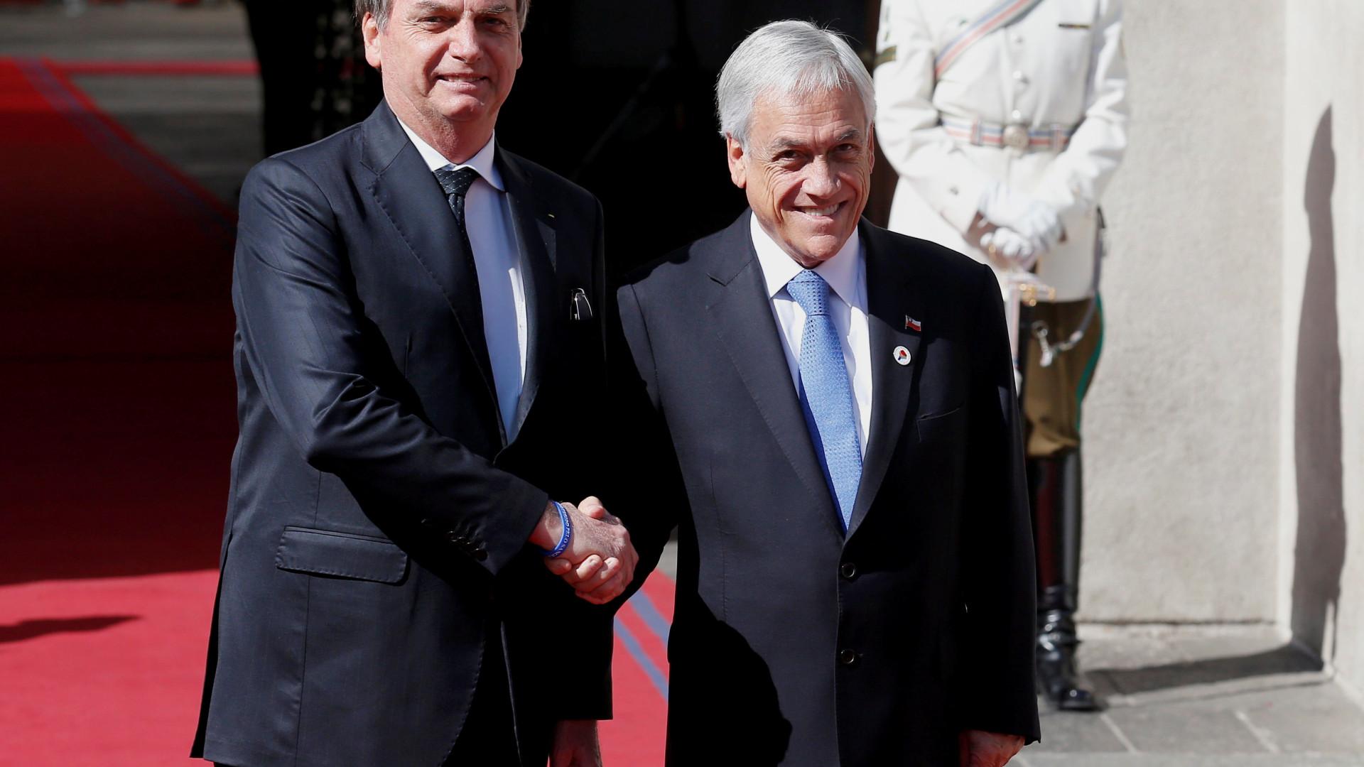 Presidente chileno condena declarações de Bolsonaro