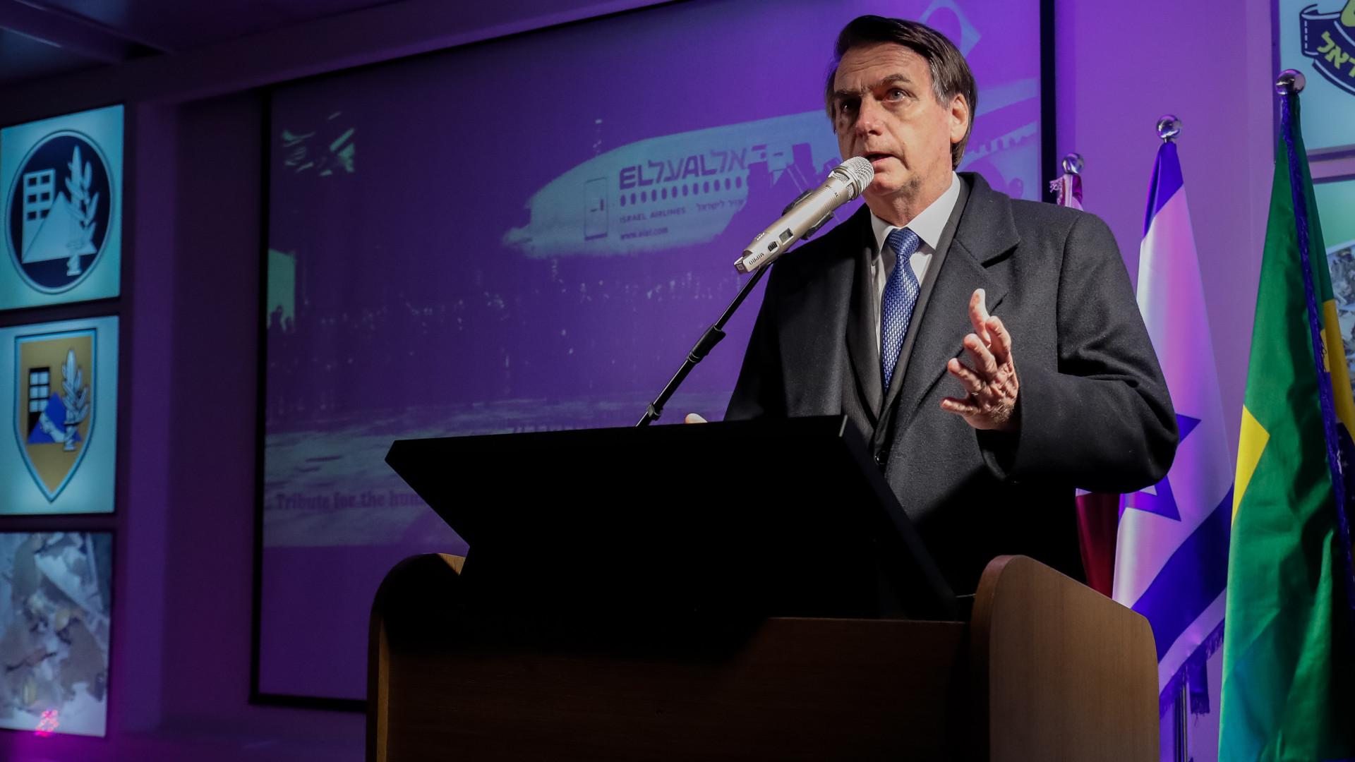 'É direito deles reclamar', diz Bolsonaro sobre reação da Palestina