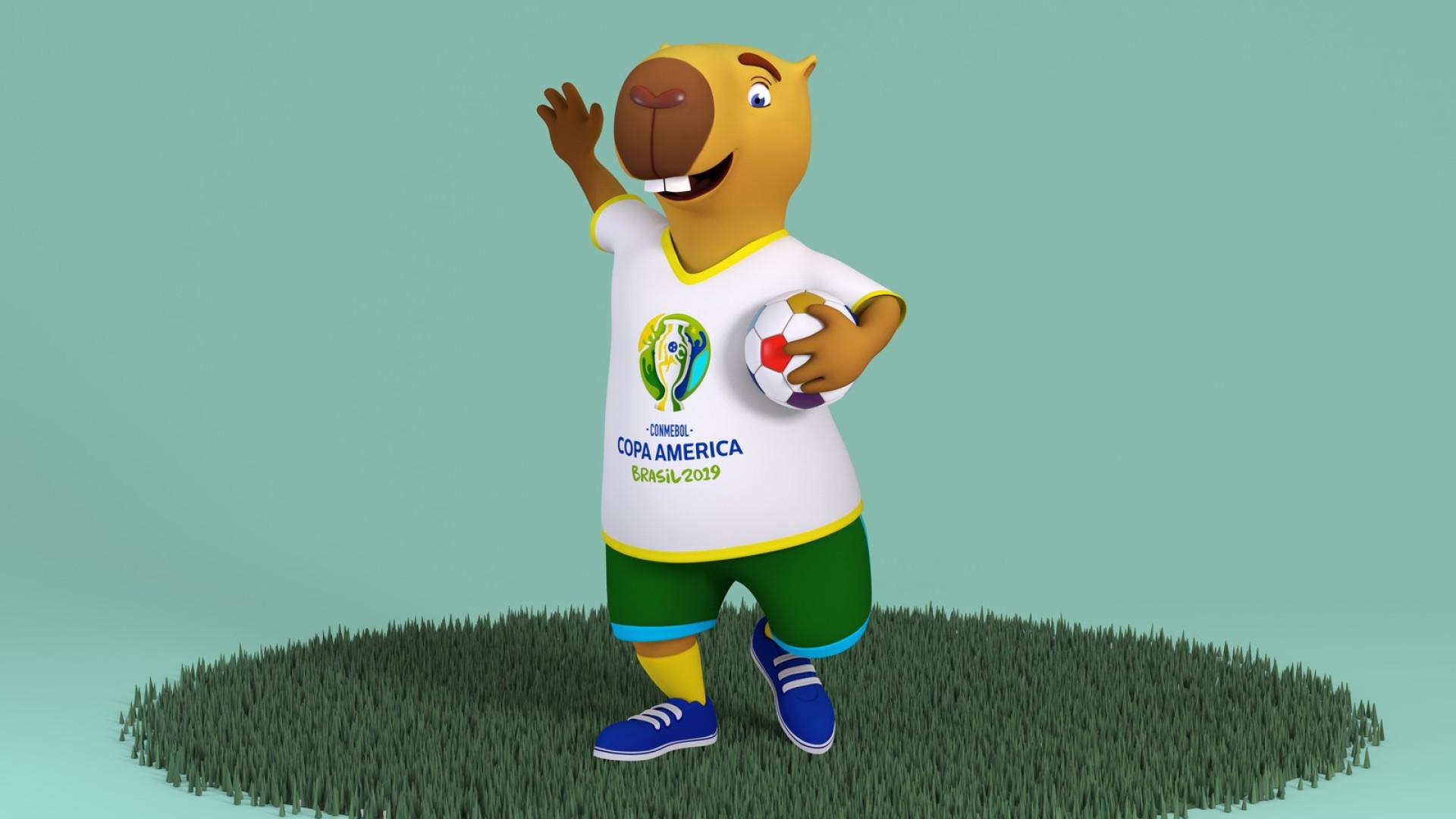 Capivara será mascote da Copa América; votação vai definir o nome