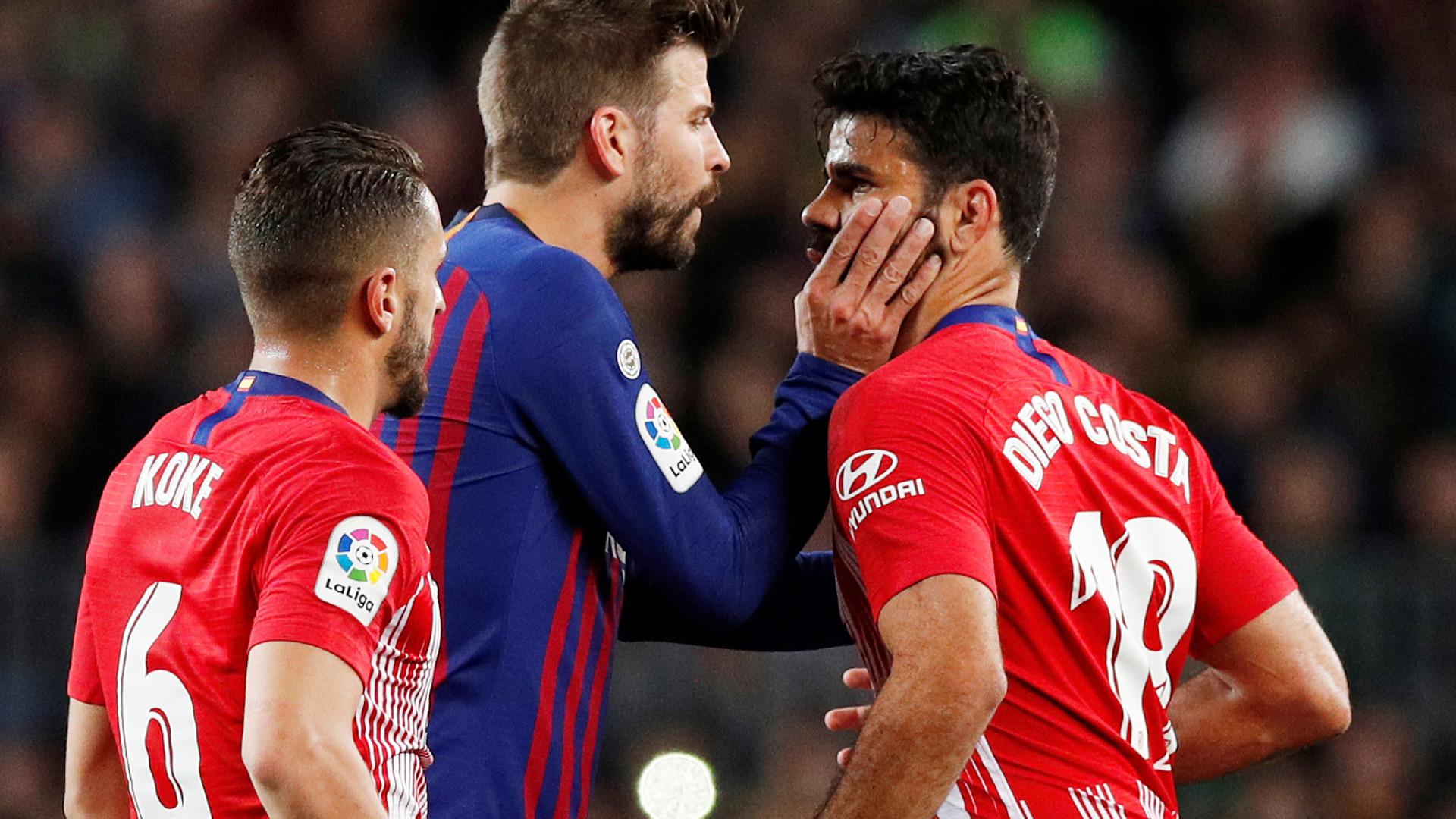 Diego Costa é expulso, Barça vence o Atlético e encaminha título