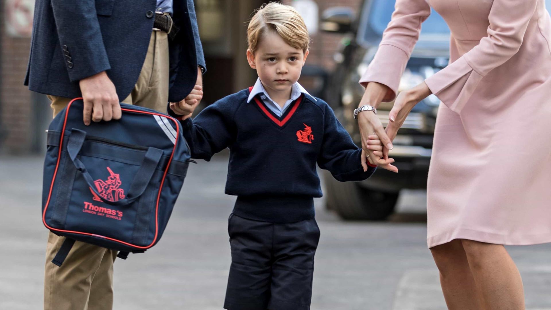 Popular na escola, Príncipe George ganha apelido de colegas