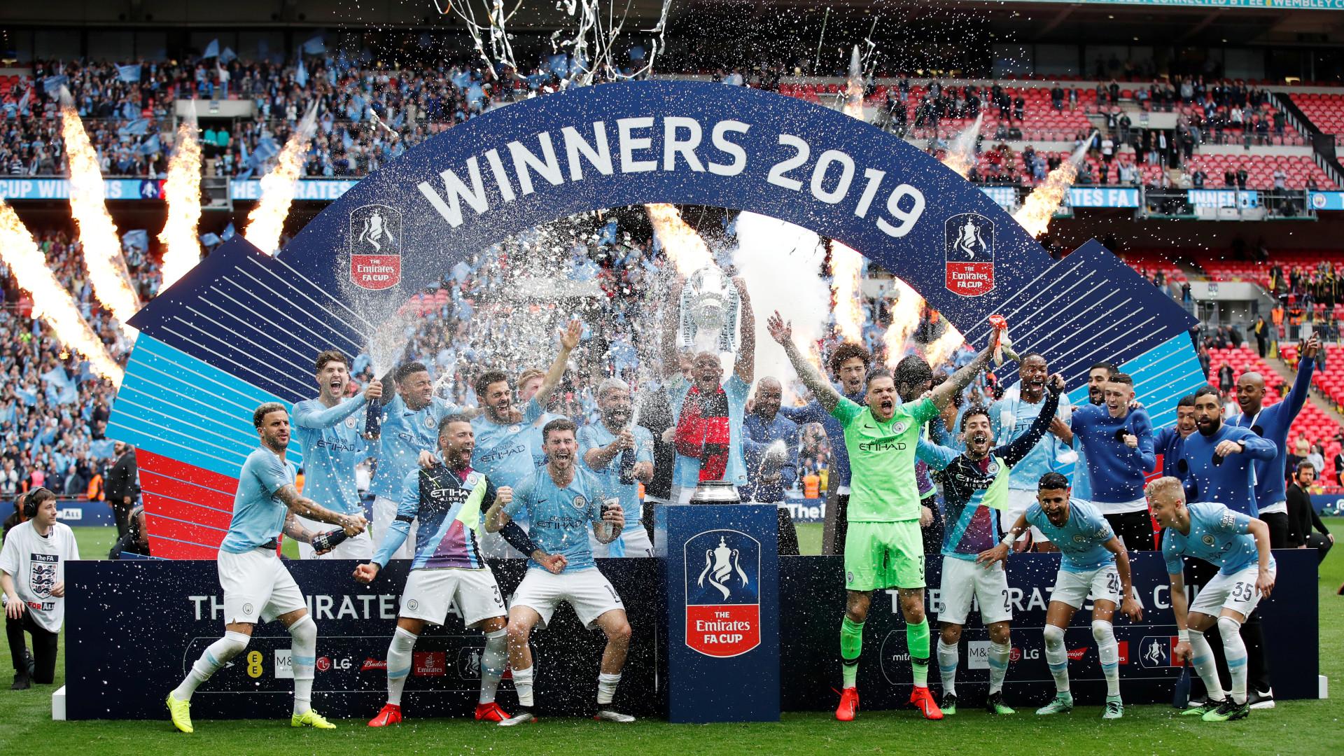 City é campeão da Copa da Inglaterra e conquista 'tríplice coroa'