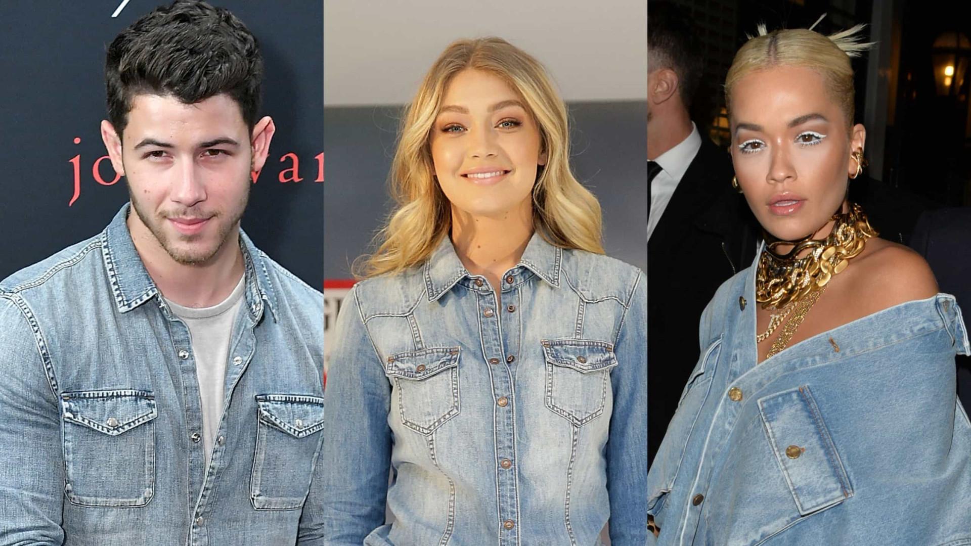 Os looks dos famosos no estilo total jeans