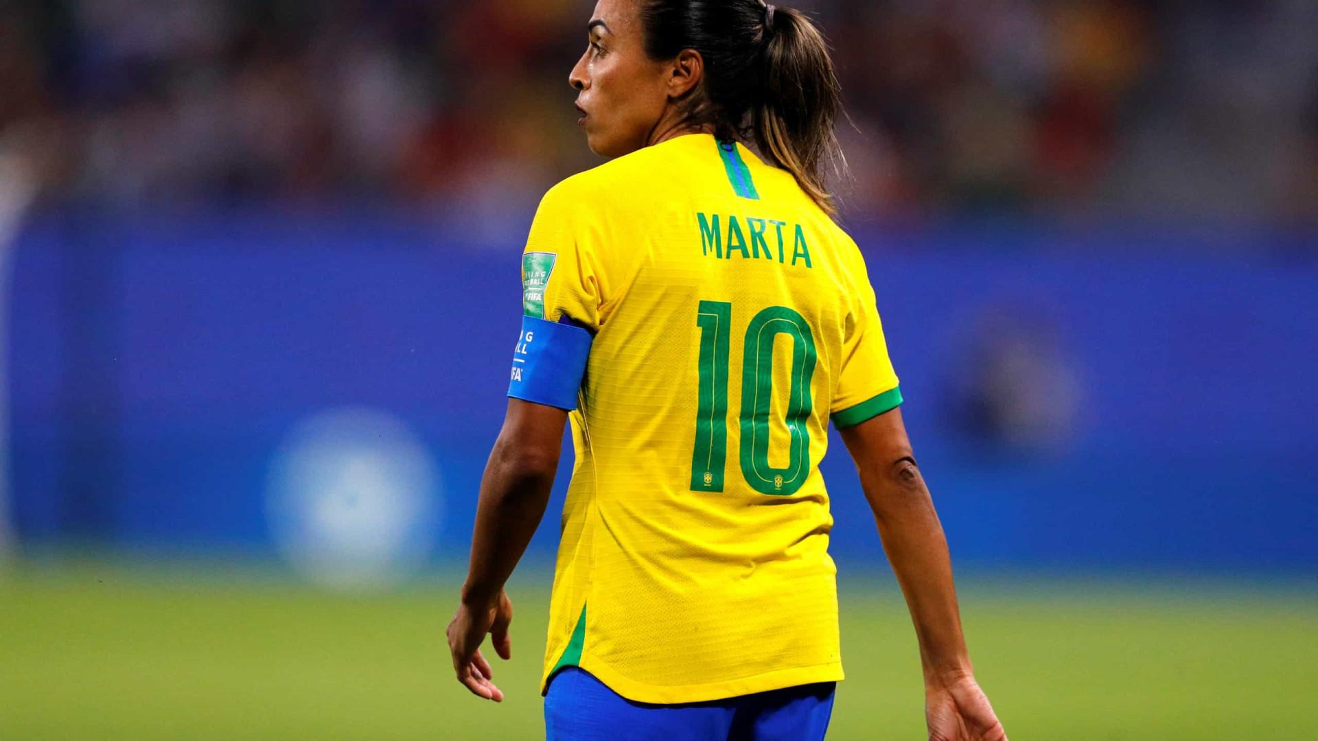 Com covid-19, Marta é cortada da seleção brasileira para amistosos contra Equador
