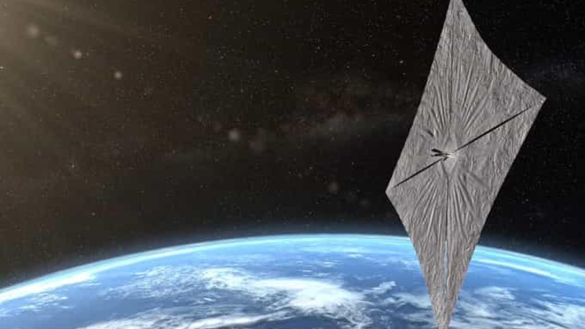 Nave que usa luz do Sol como combustível é lançada para o Espaço