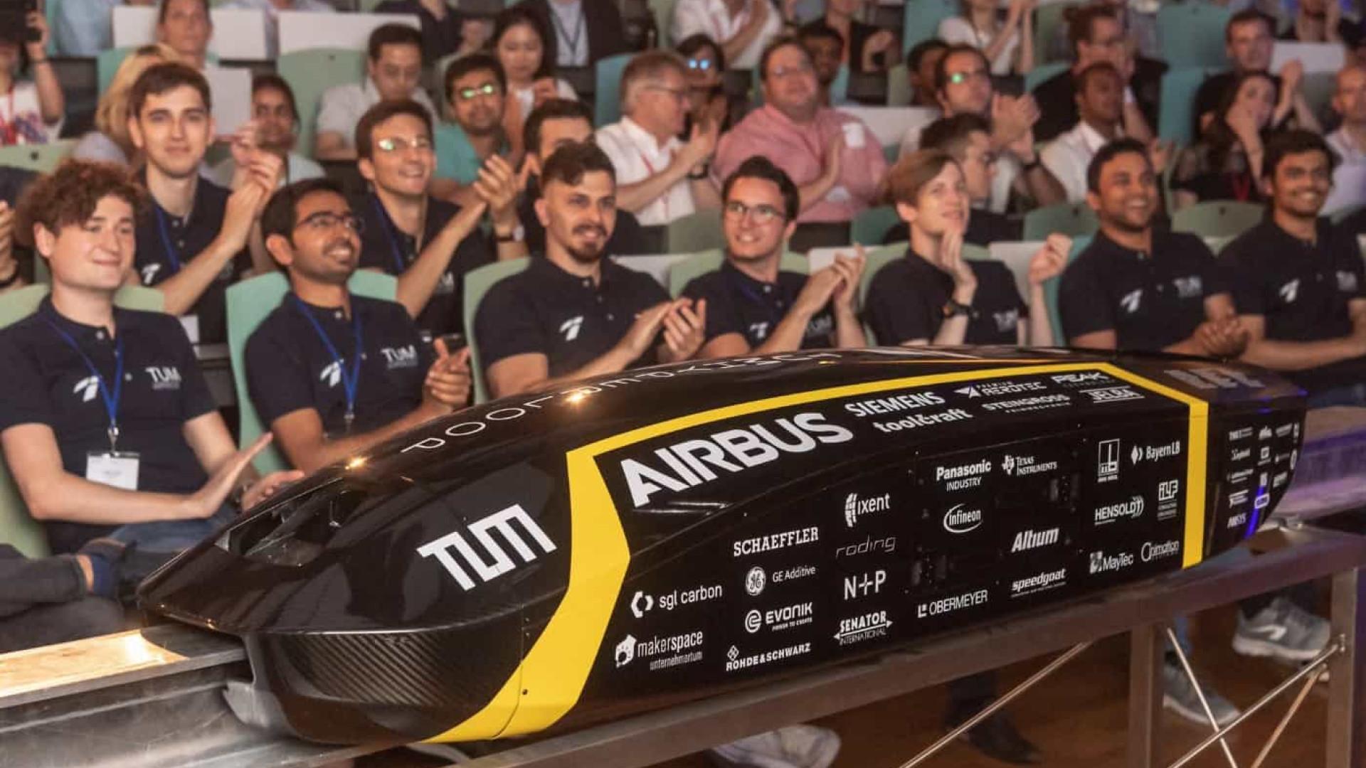 Protótipo do Hyperloop atinge velocidade superior a 460km/h