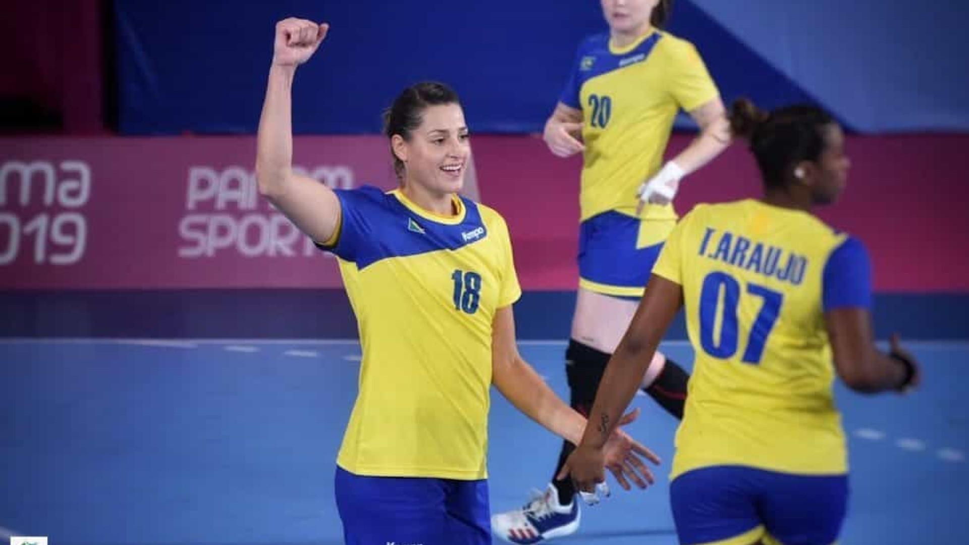 Seleção feminina de handebol vence Cuba na estreia no Pan de Lima