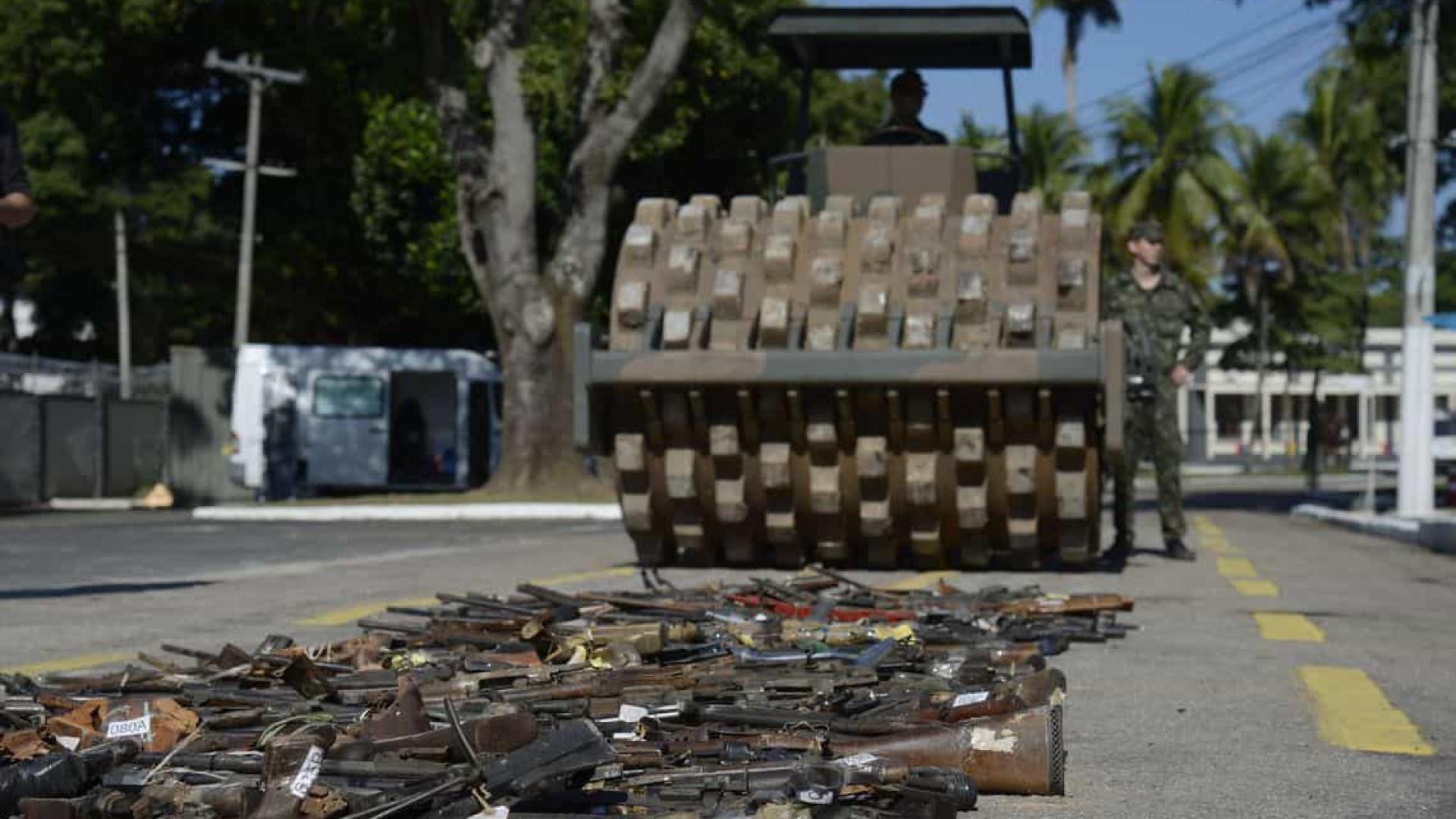 Operação vai destruir cerca de 16 mil armas no Rio de Janeiro