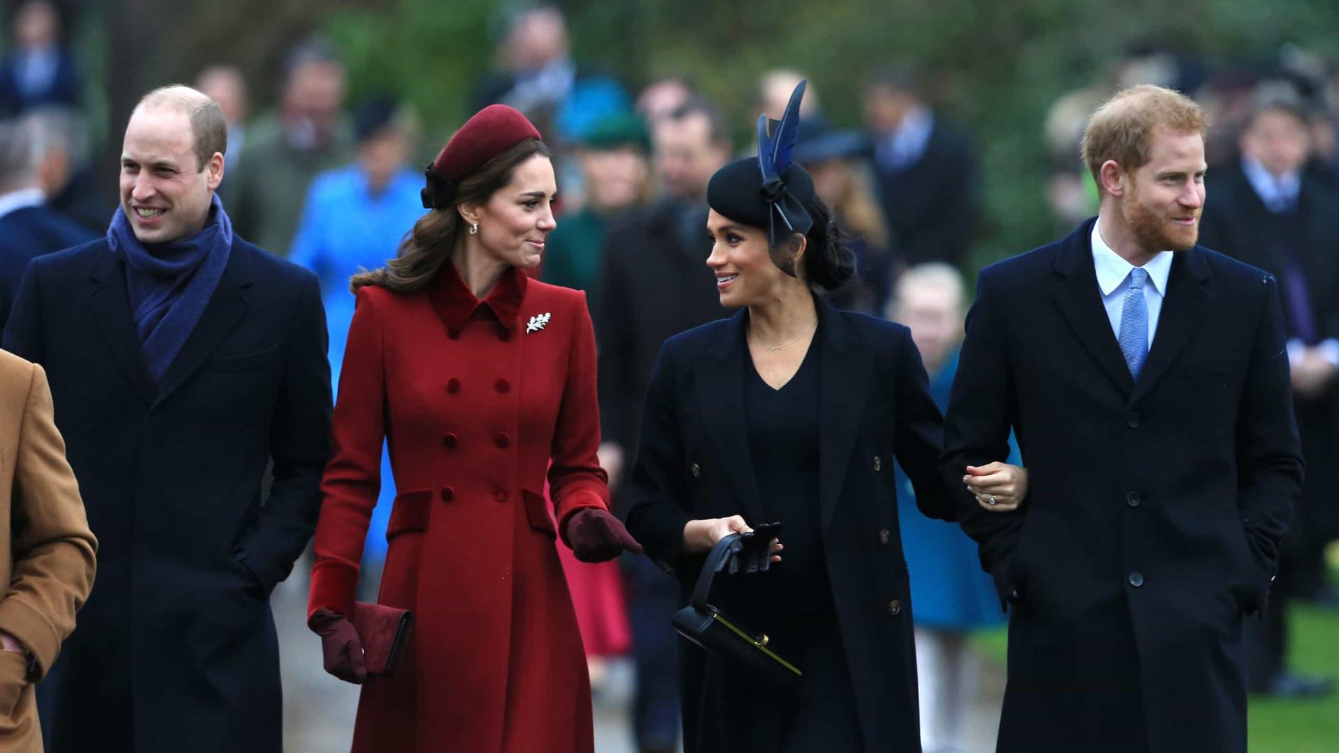 Harry e Meghan Vs. William e Kate. Novo indício de mal-estar na realeza