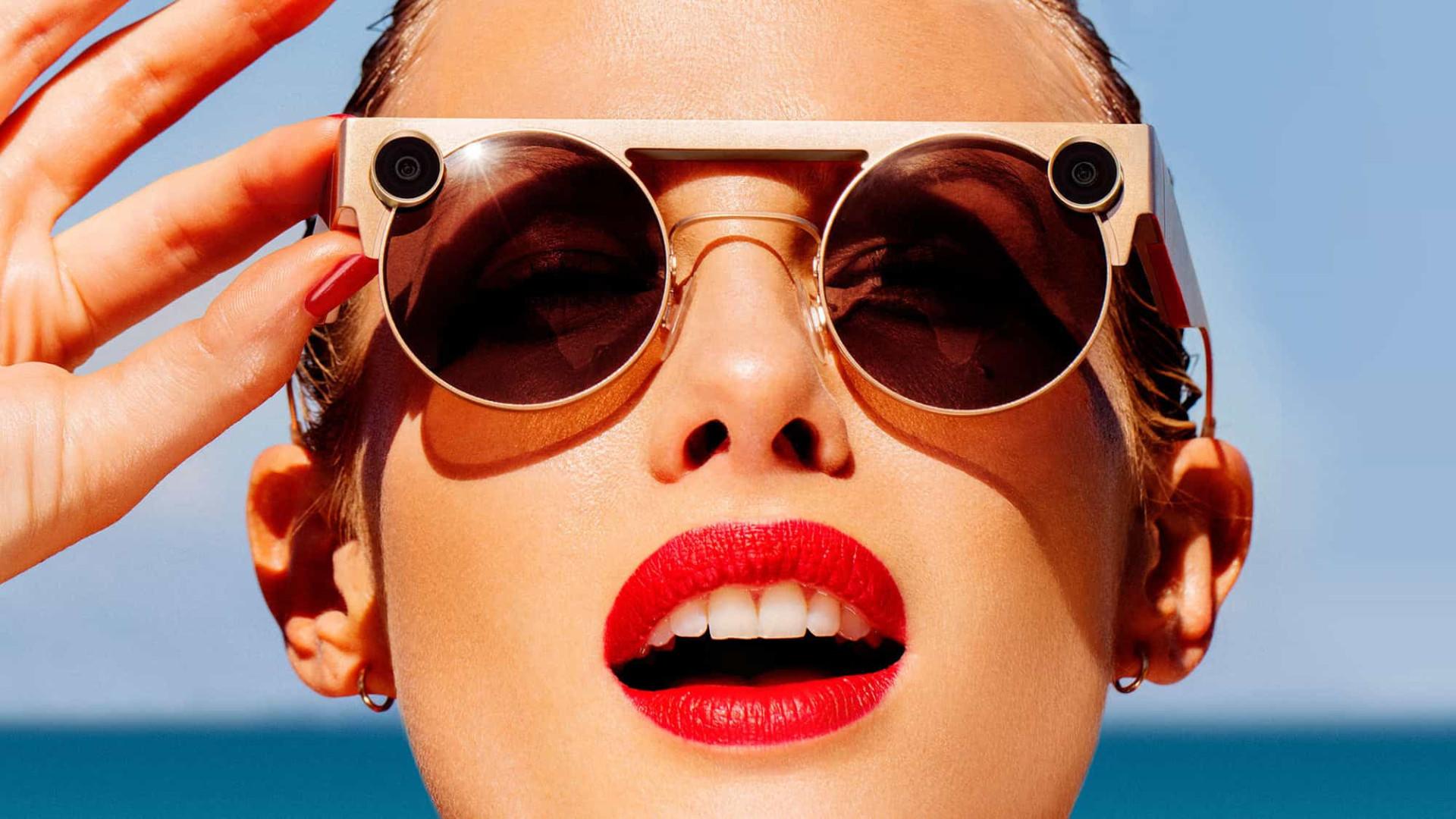 Snapchat apresenta novos óculos com Realidade Aumentada