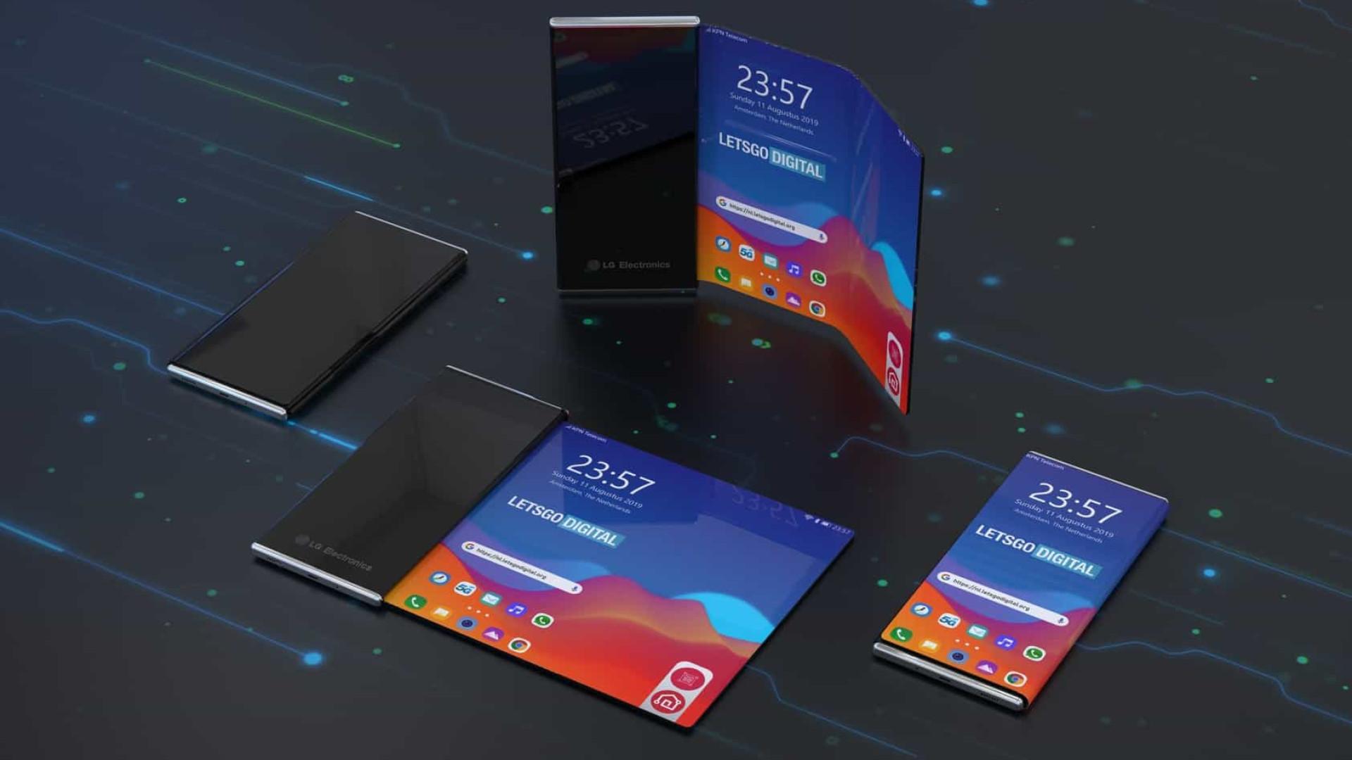 Smartphones dobráveis? Patente da LG aposta em telas enroláveis