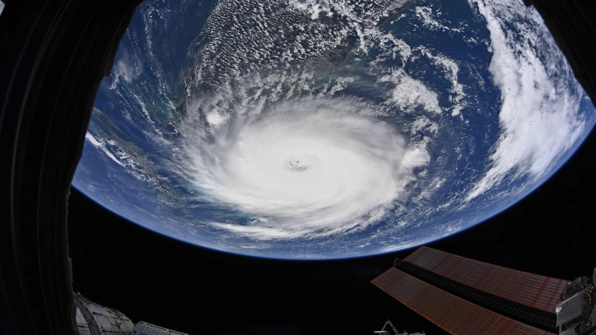 Estação Espacial capta imagens únicas do Furacão Dorian