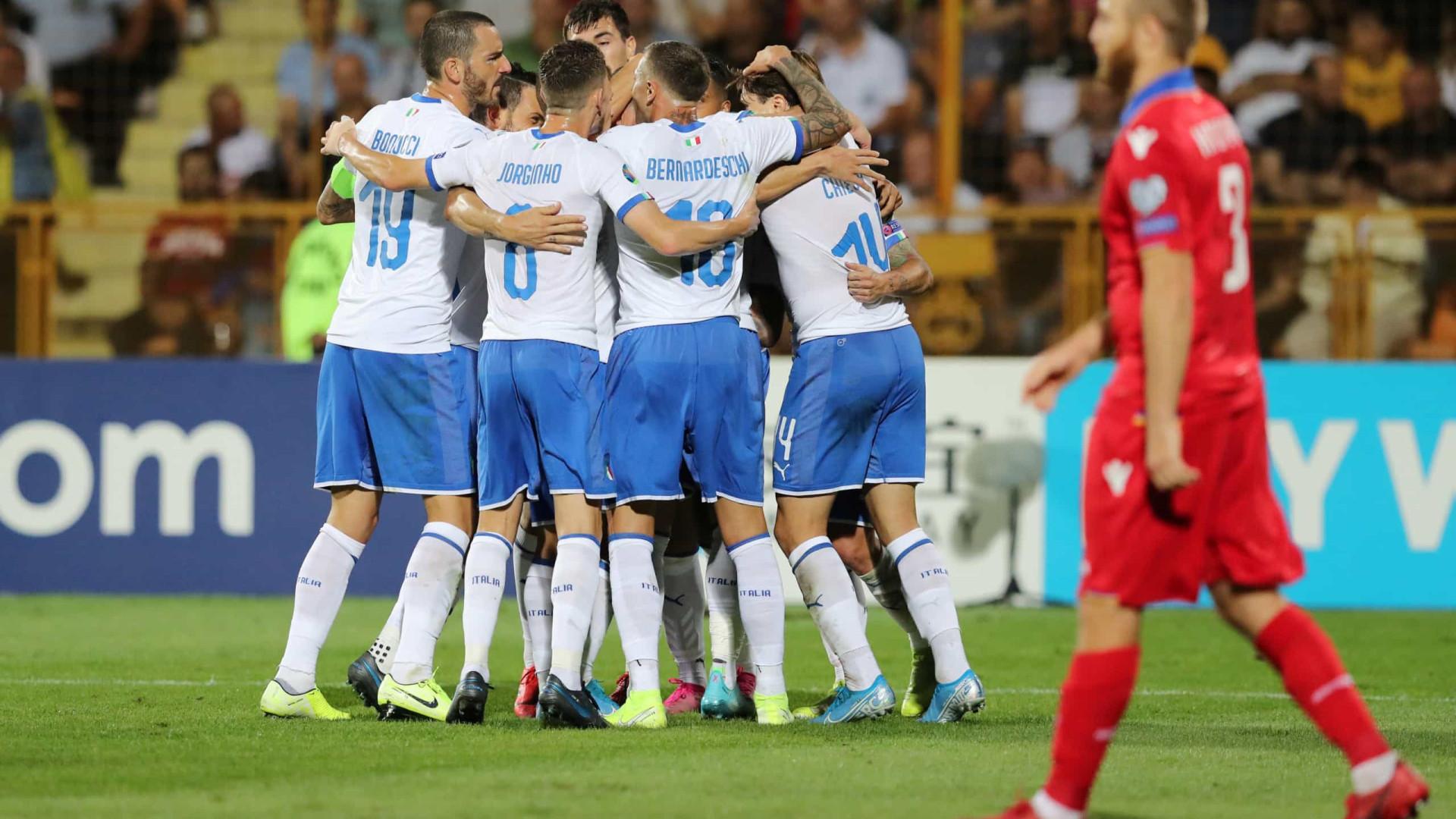Itália bate Armênia de virada e segue nas Eliminatórias da Eurocopa