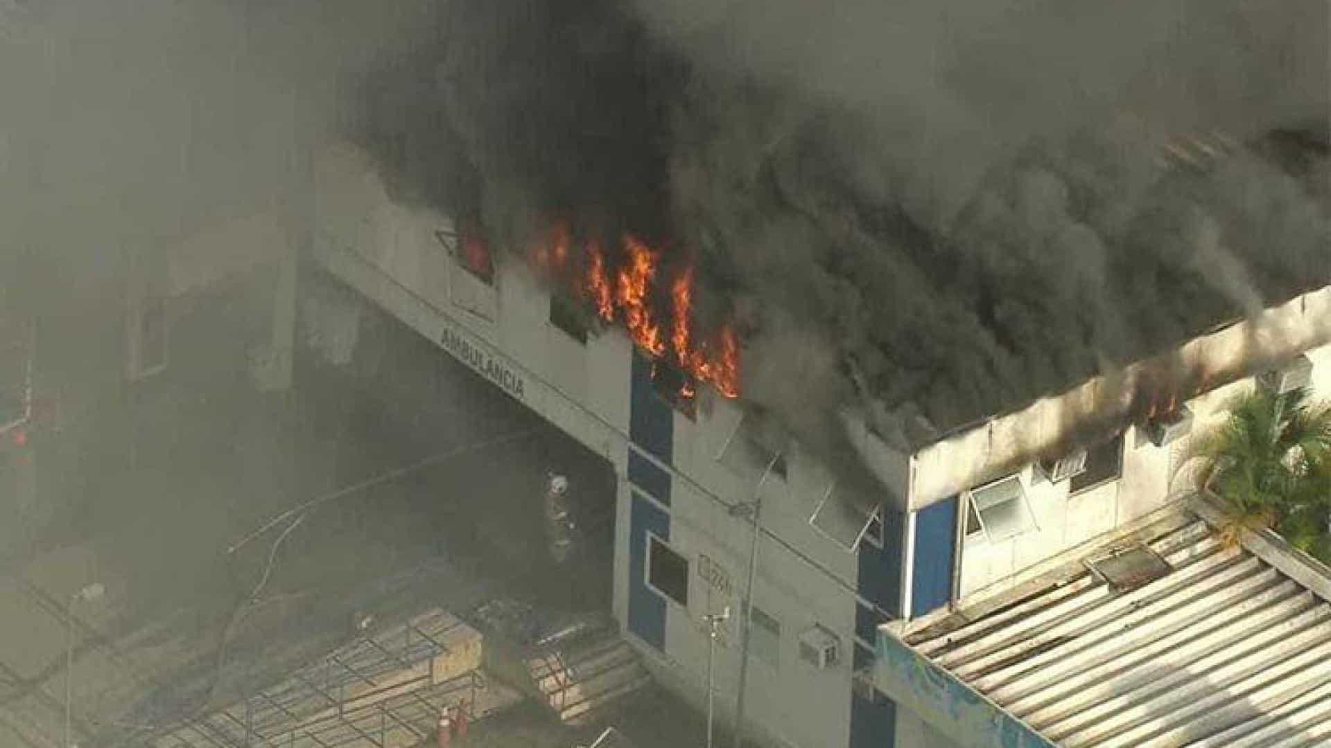 Incêndio atinge hospital na Tijuca; pacientes são retirados às pressas