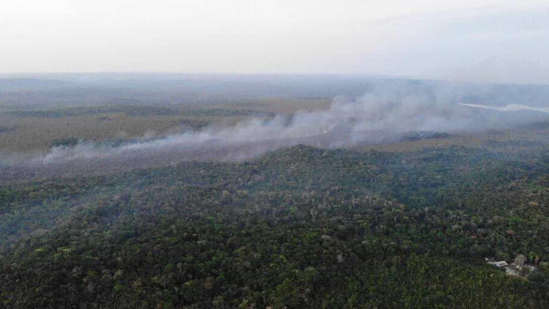 Combate a focos de incêndios florestais continua neste sábado