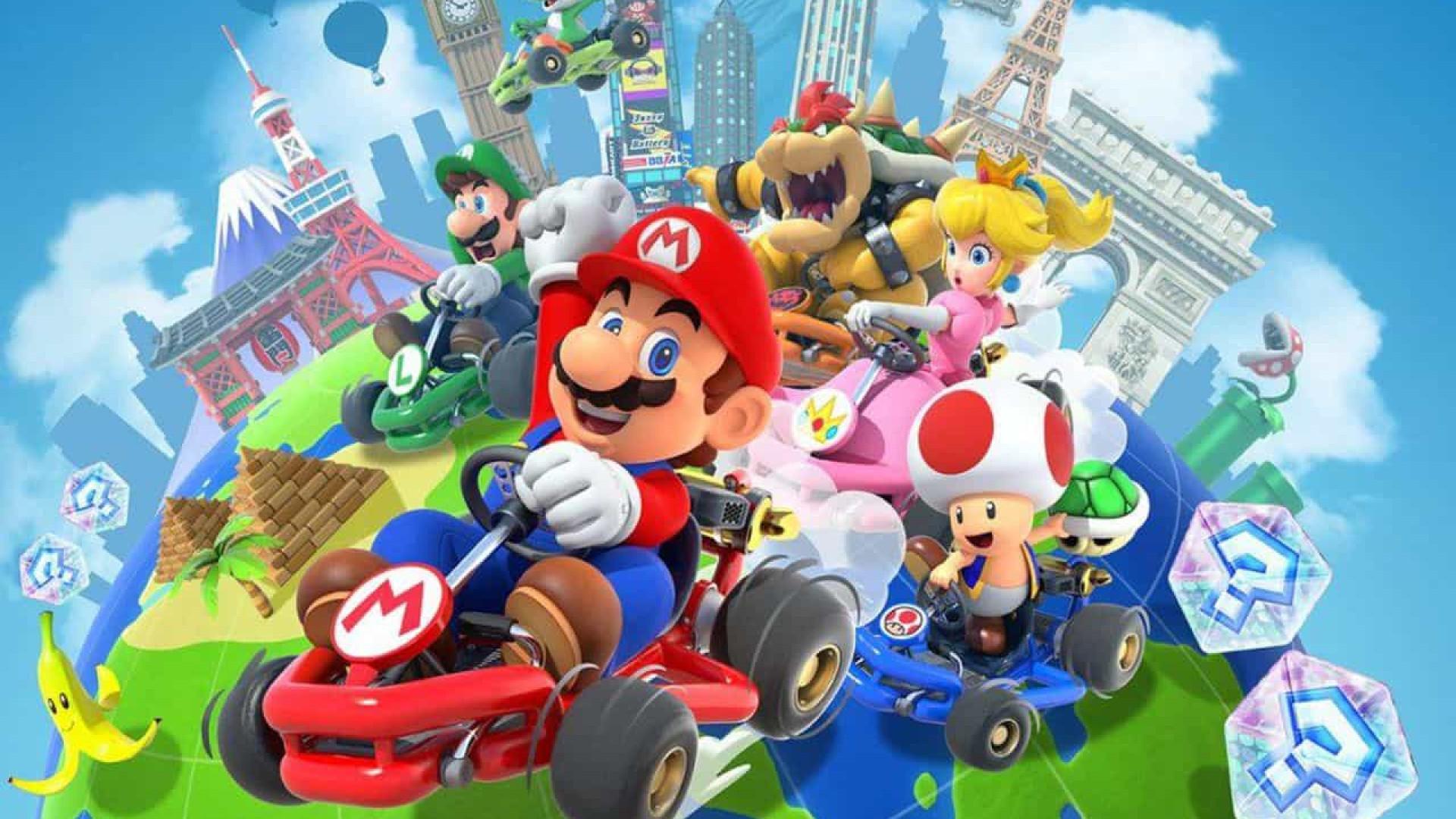 'Mario Kart Tour' registra mais de 90 milhões de downloads