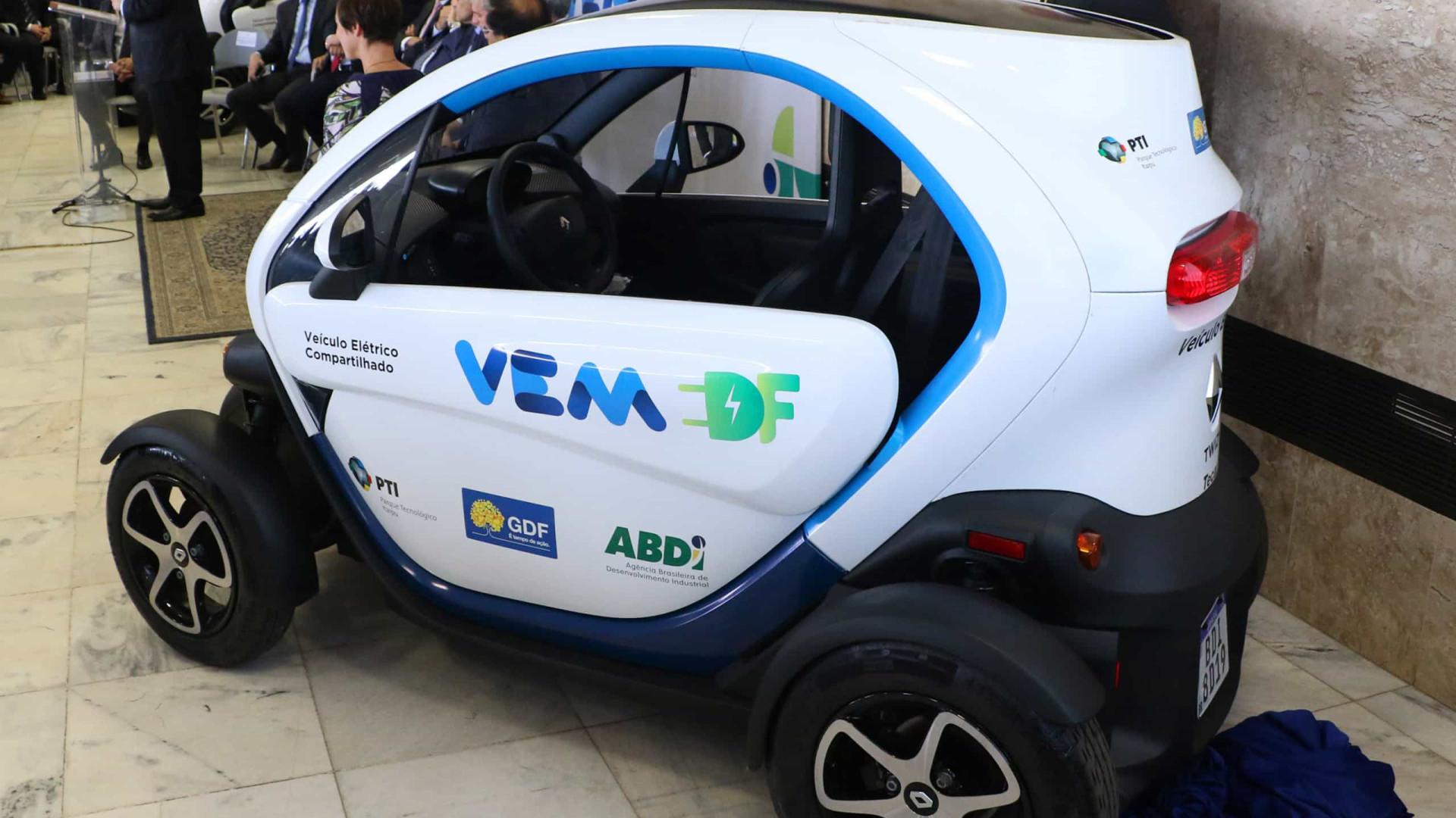 Servidores do Distrito Federal usarão carros elétricos compartilhados