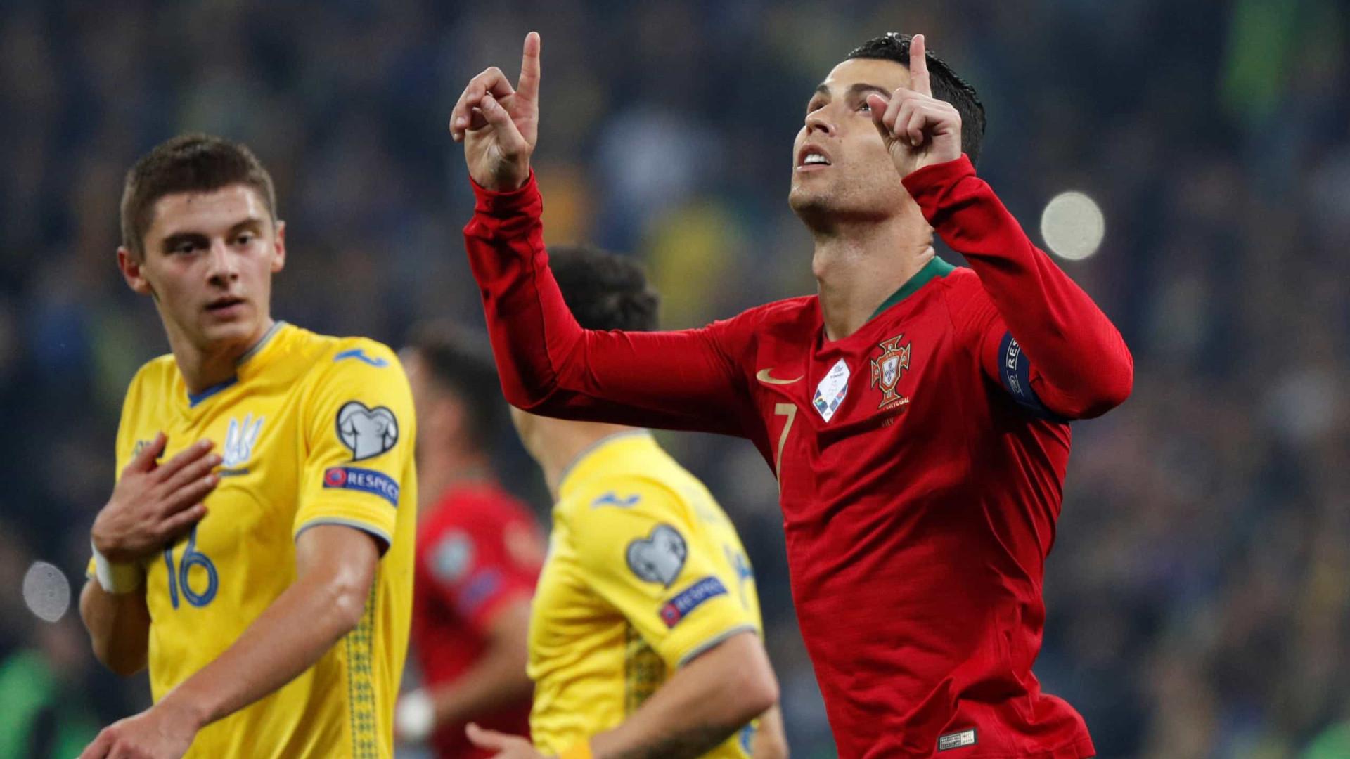 Ucrânia vence Portugal e Cristiano Ronaldo chega aos 700 gols