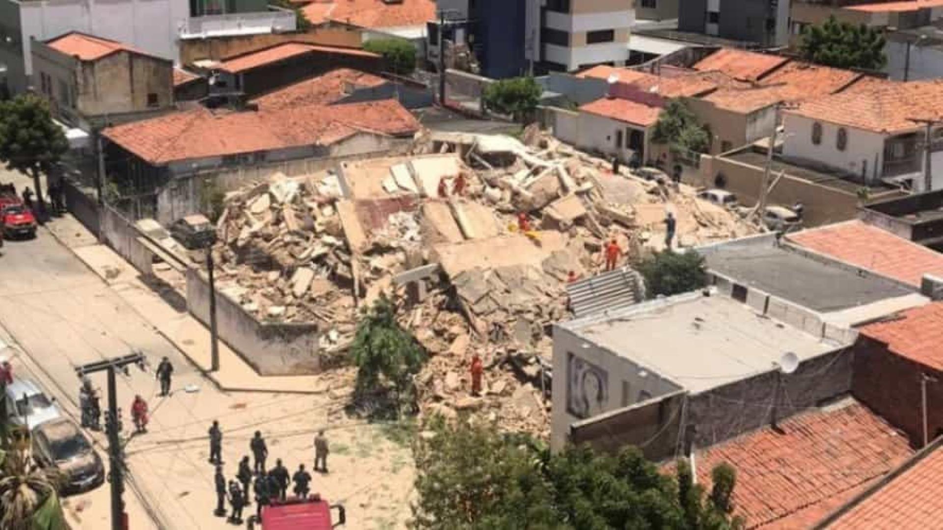 Sobem para seis os mortos do desabamento em Fortaleza