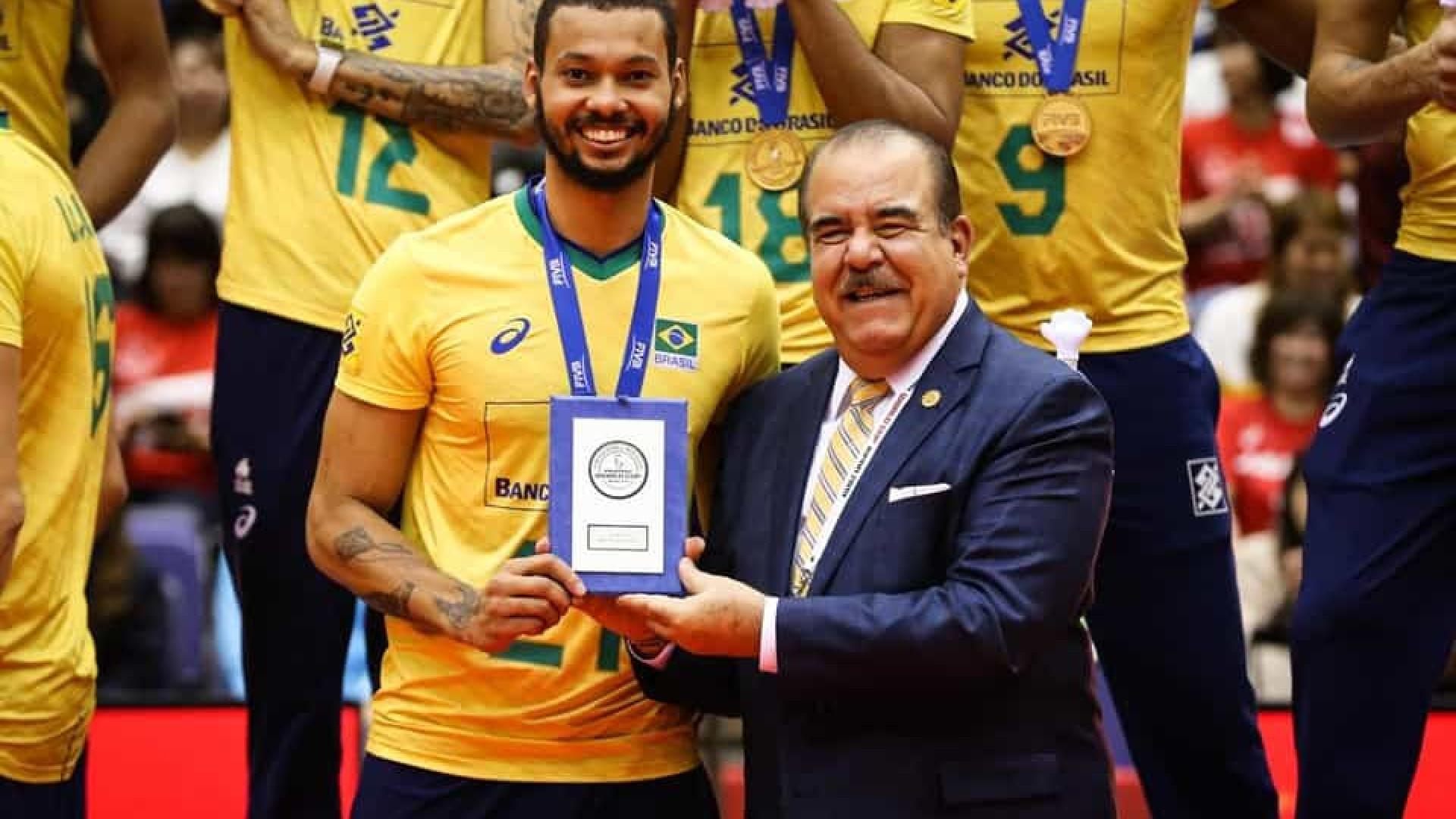Alan é eleito MVP da Copa do Mundo de Vôlei: 'A ficha ainda não caiu'