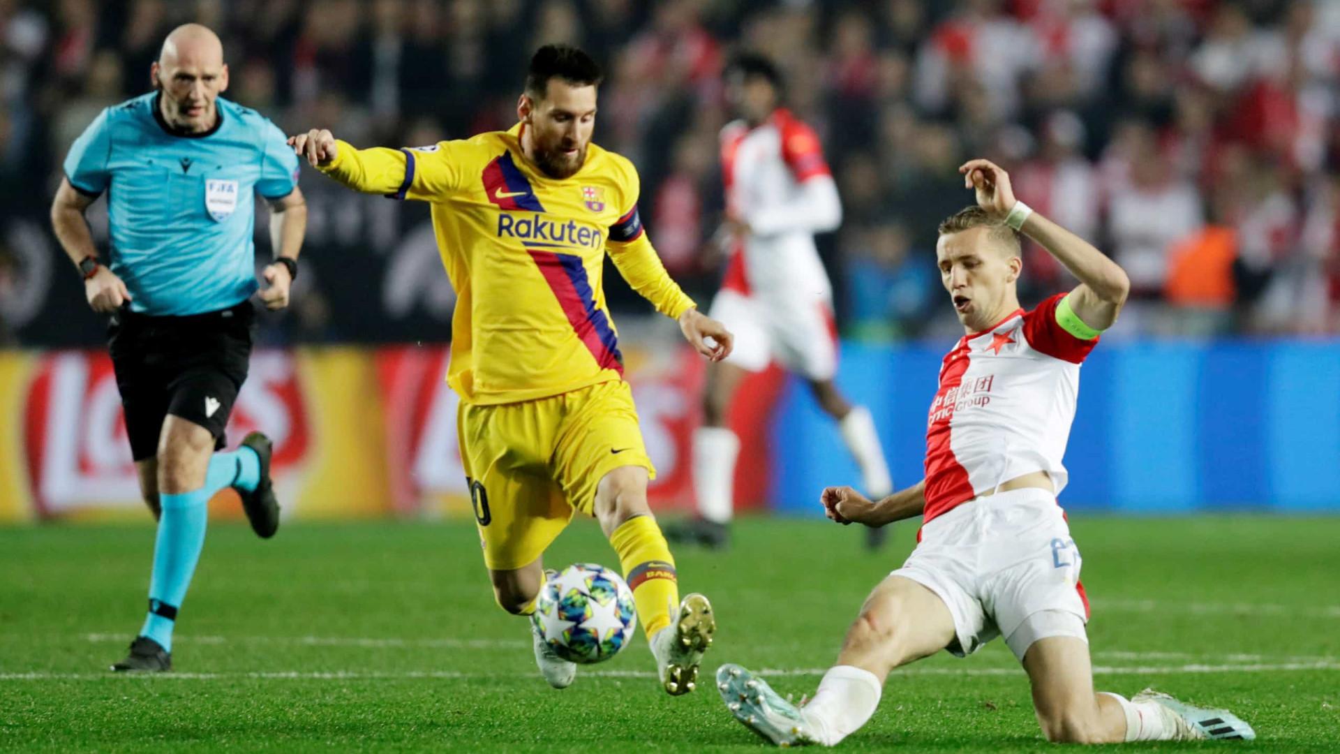 Messi marca, Barça vence fora e assume topo; Inter é vice-líder