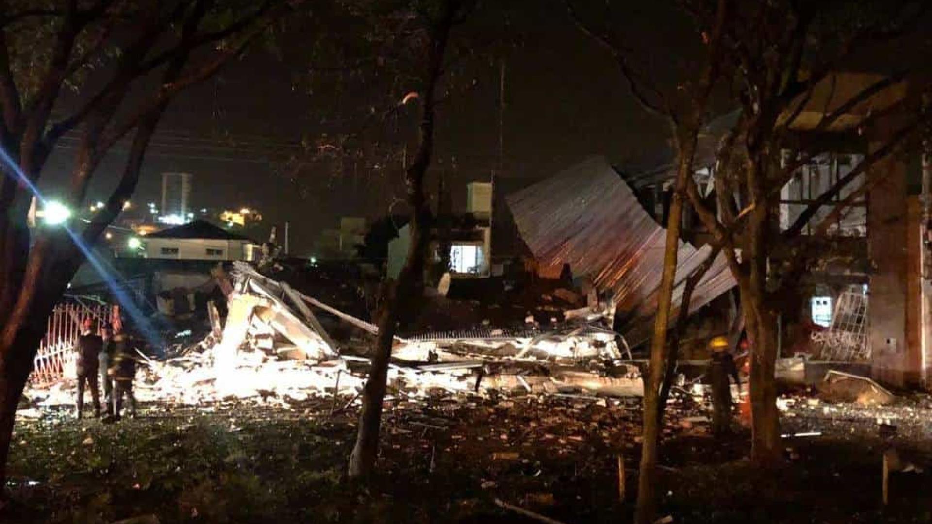 Explosão mata padeiro e destrói prédio de panificadora em Minas Gerais