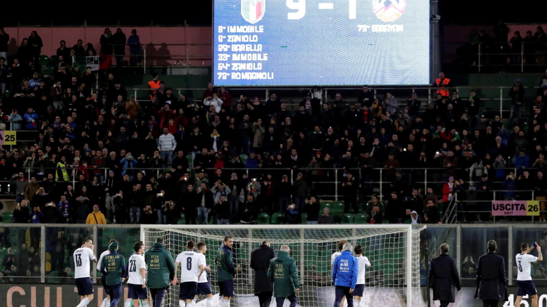 Itália faz 9; Suíça e Dinamarca também se classificam
