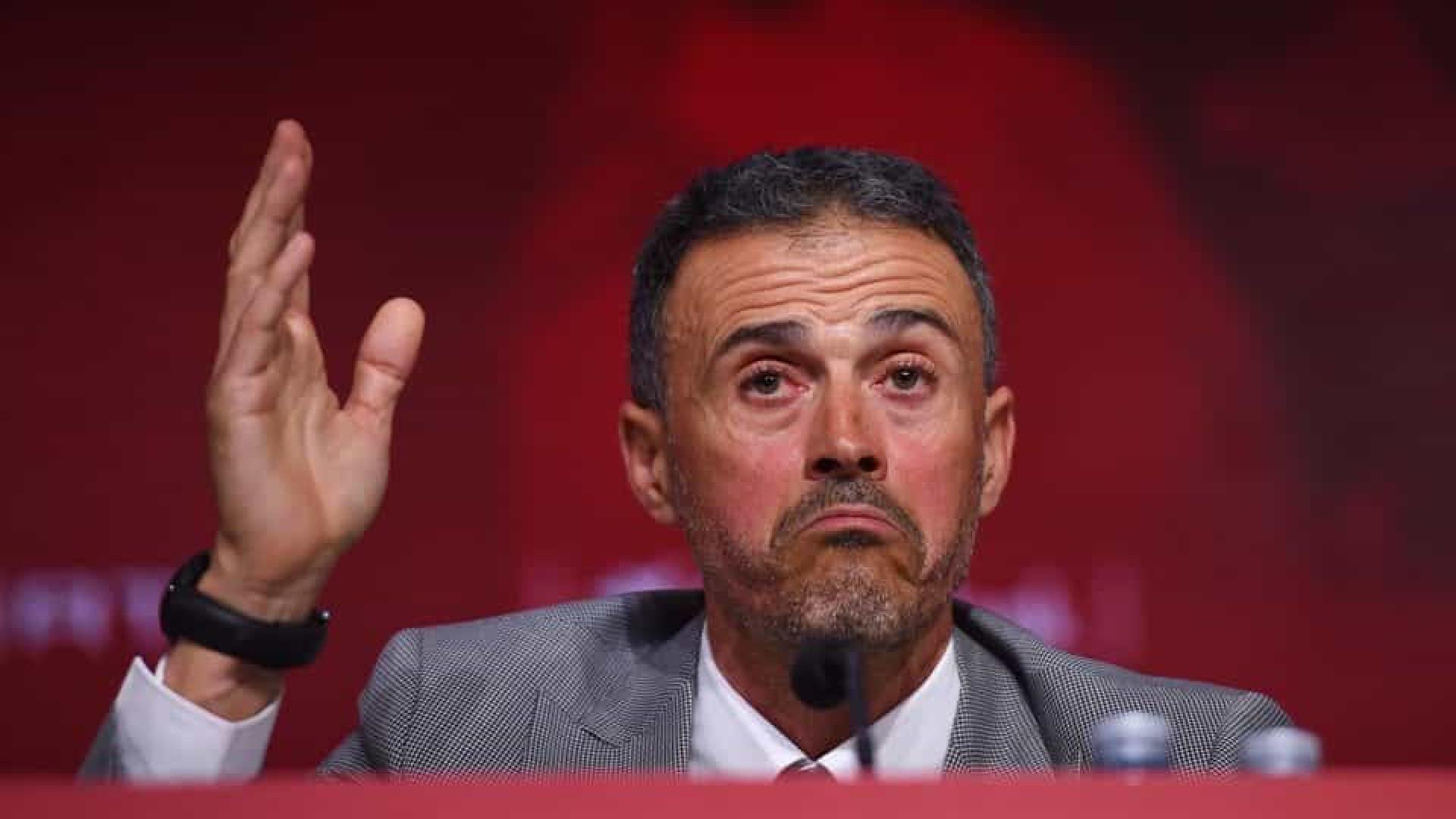 Em retorno à seleção espanhola, Luis Enrique demite auxiliar