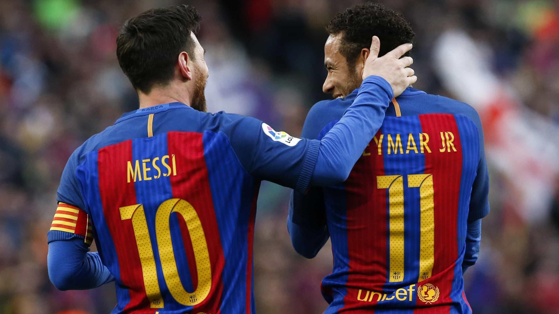 O grande sonho de Ronaldinho: ver Messi e Neymar novamente juntos