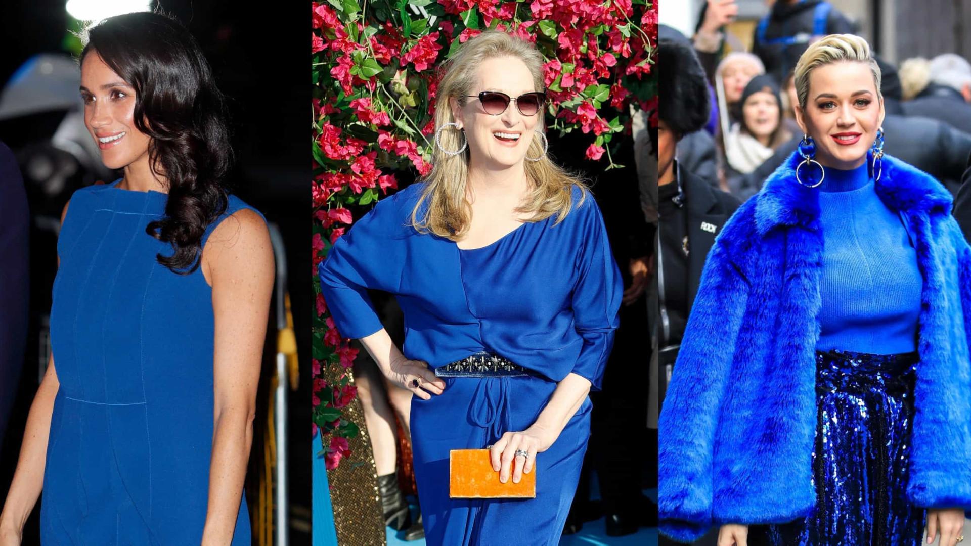 Azul clássico: As estrelas que já brilharam com 'a cor de 2020'