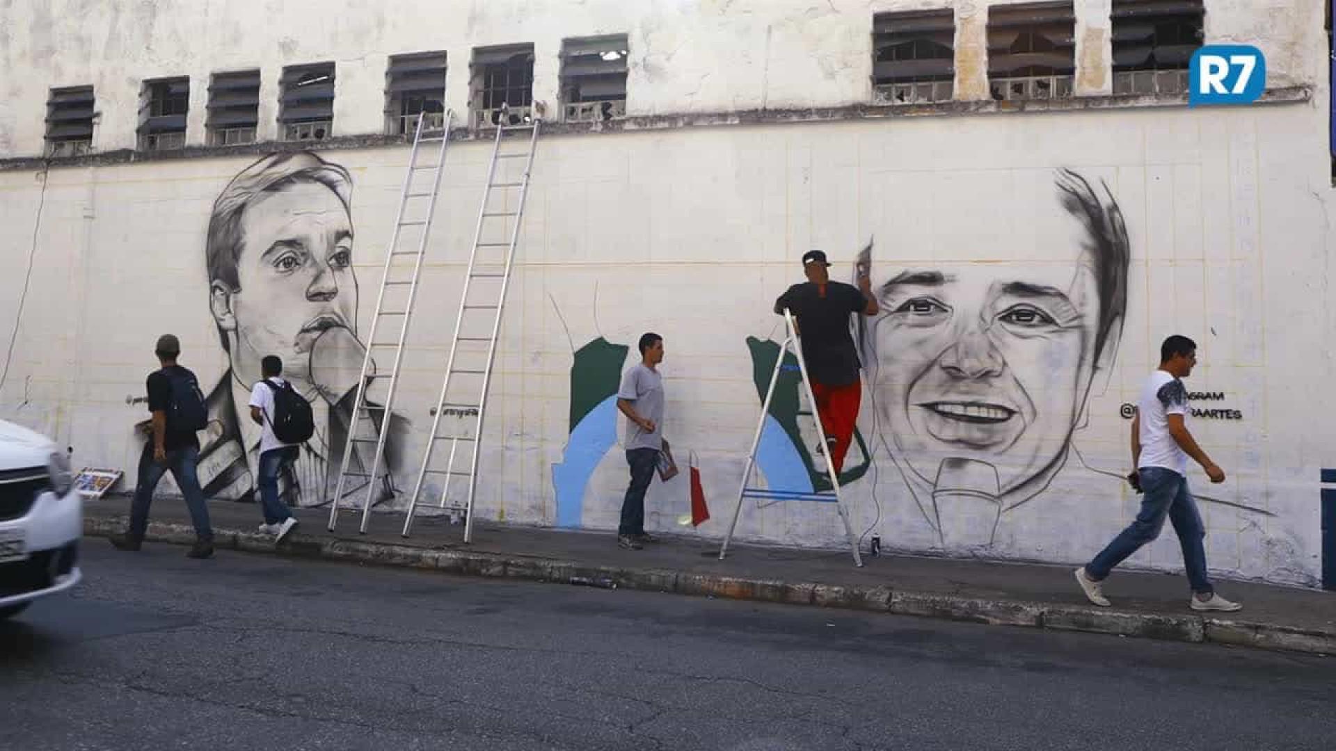 Gugu Liberato ganha mural de grafite em São Paulo