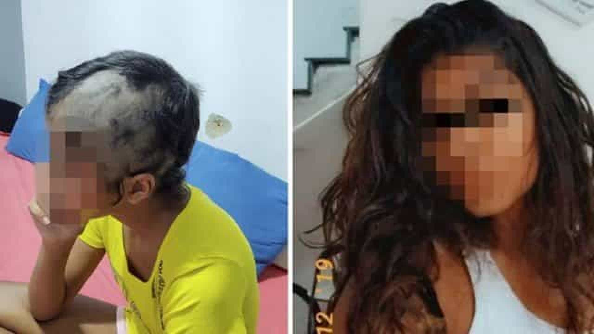 Bombeiro agride e raspa o cabelo da filha após flagra com bebida
