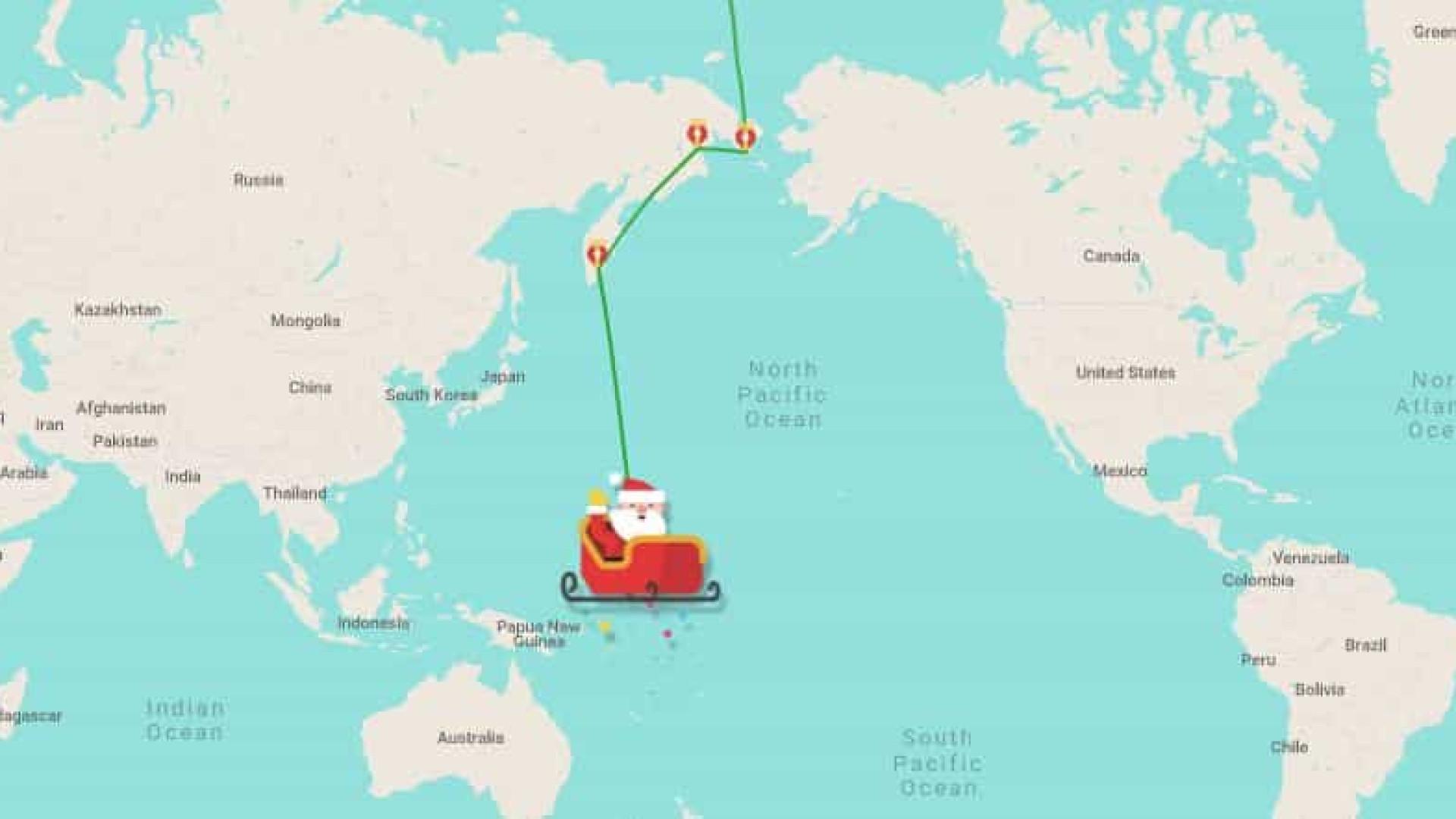 Não perca o papai Noel! Acompanhe o percurso da Lapônia até sua casa