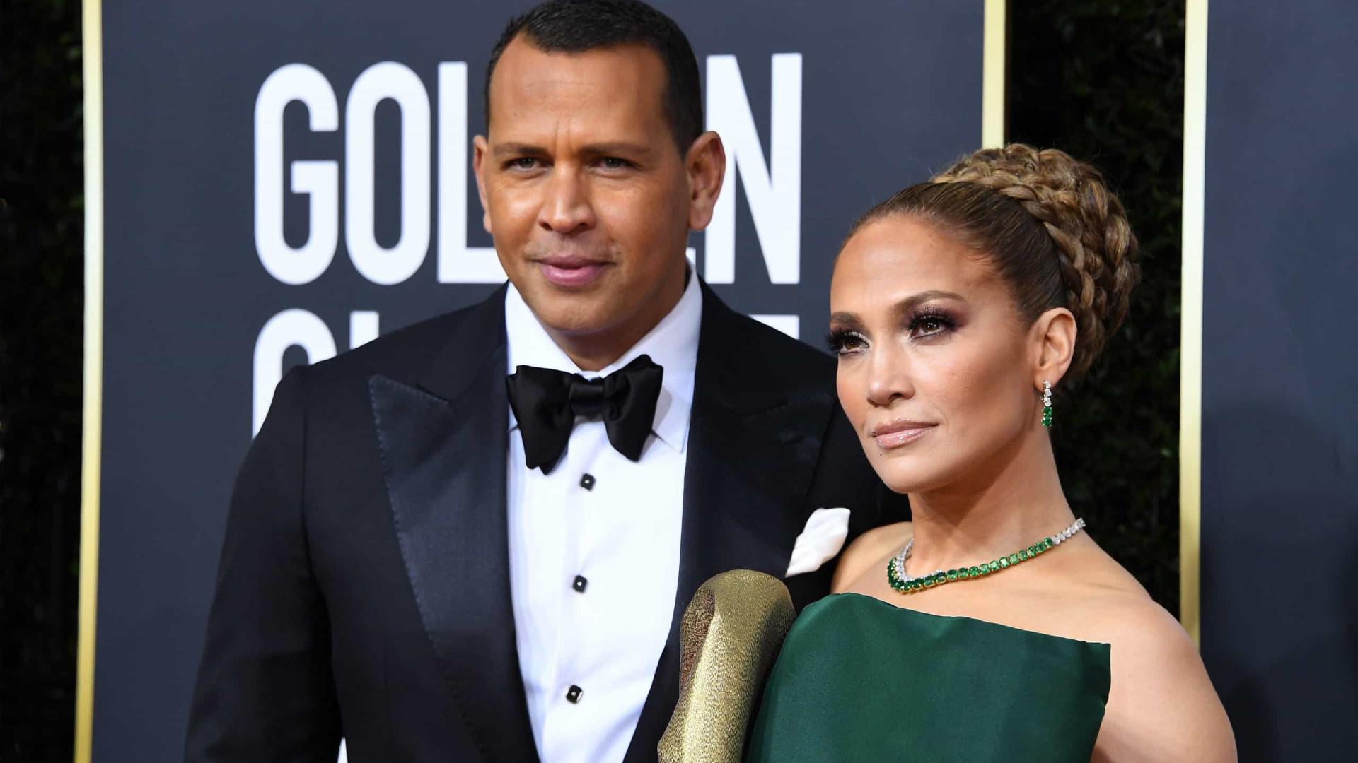 Jennifer Lopez recebe palavras carinhosas de noivo após perder Globo
