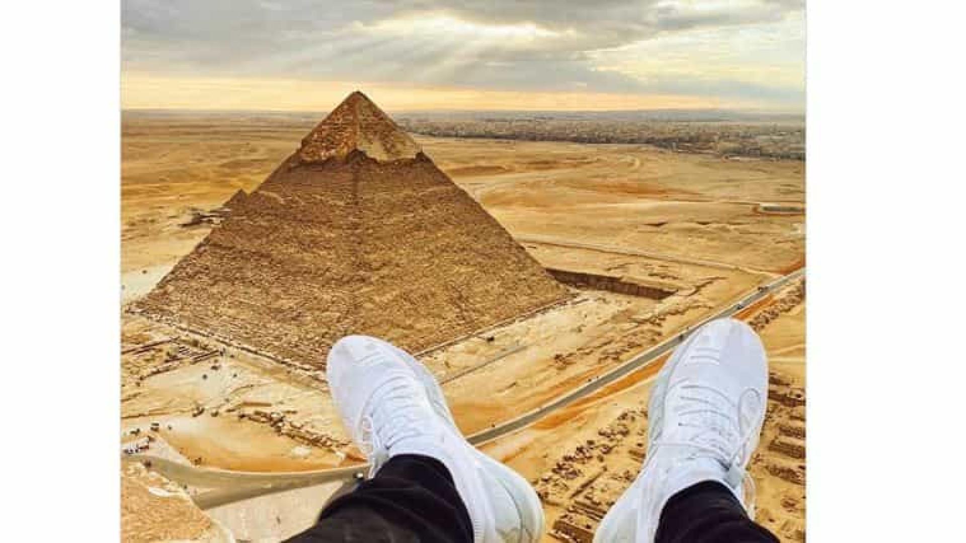 """Detido por escalar pirâmides no Egito. """"Não desejo a ninguém"""""""