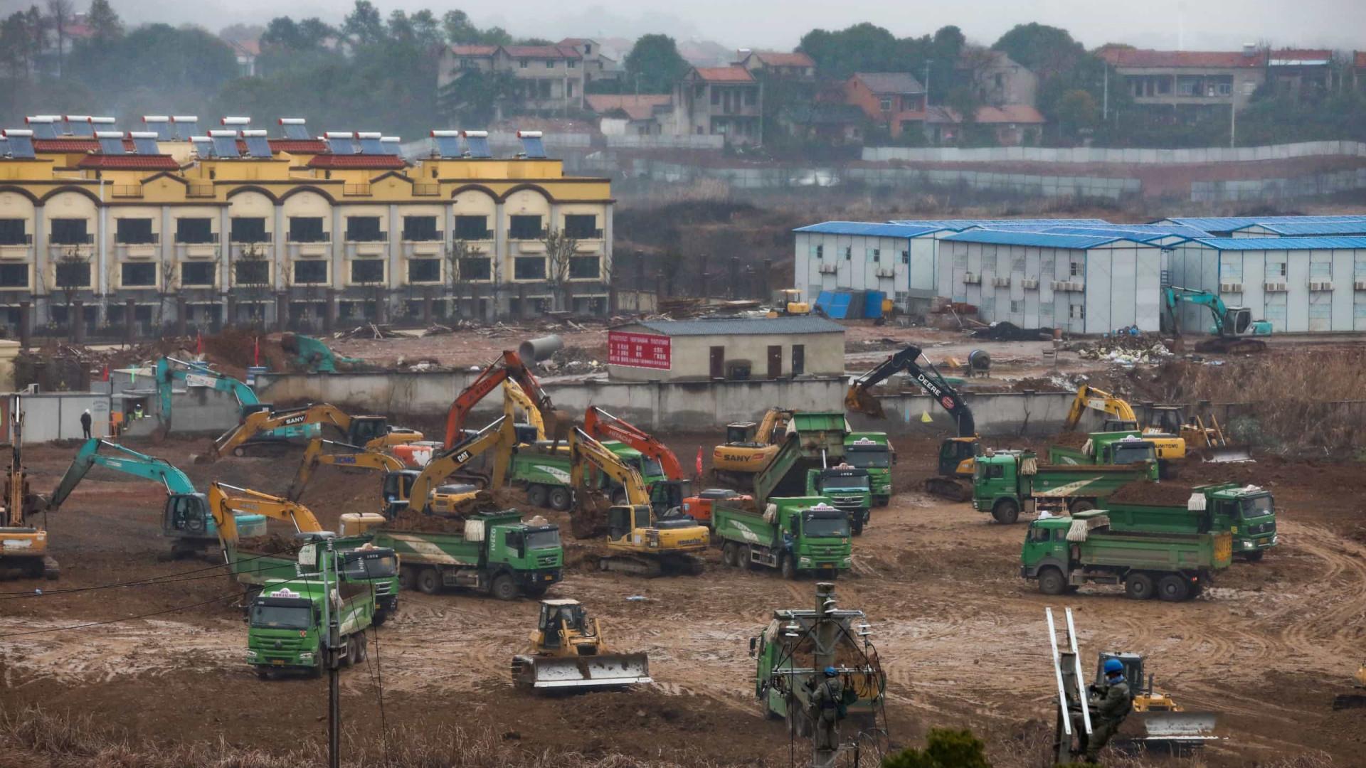 Segundo hospital será construído em duas semanas em Wuhan