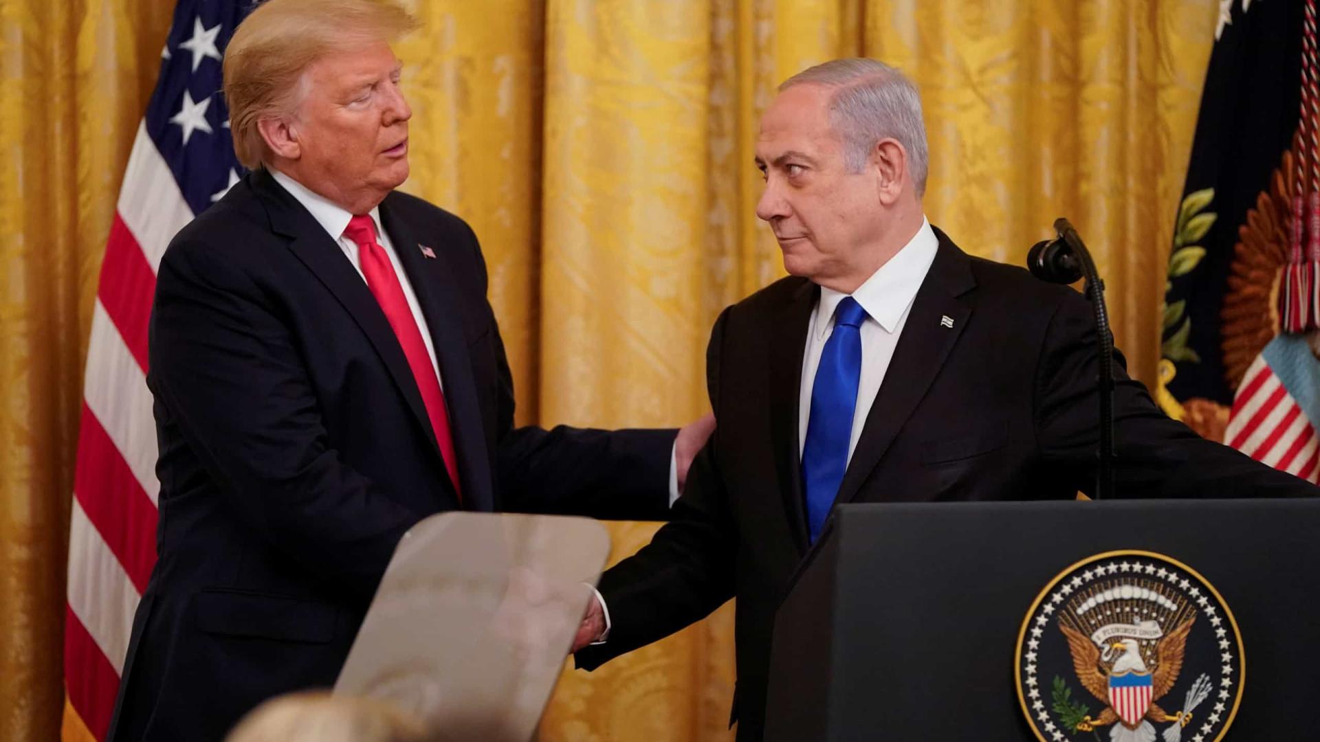 Trump anuncia plano de paz no Oriente Médio