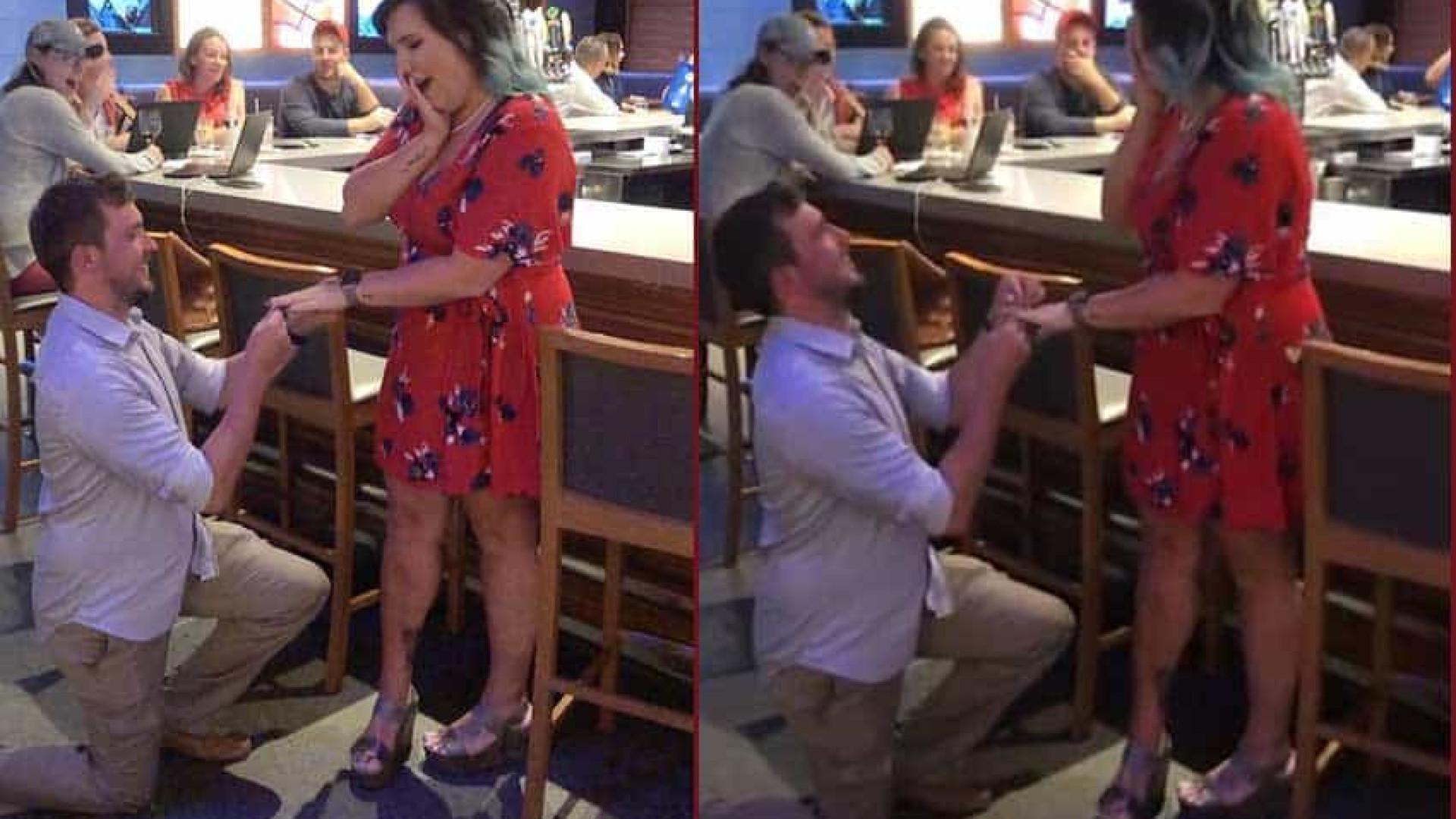 Casal finge pedidos de casamento para beber sem pagar em bares