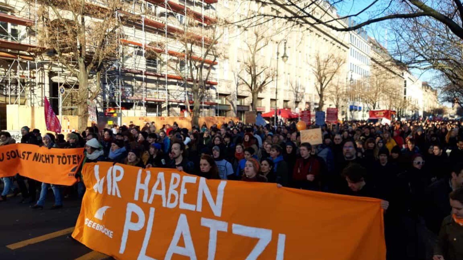 Alemães contra situação dos migrantes nas fronteiras exteriores da UE
