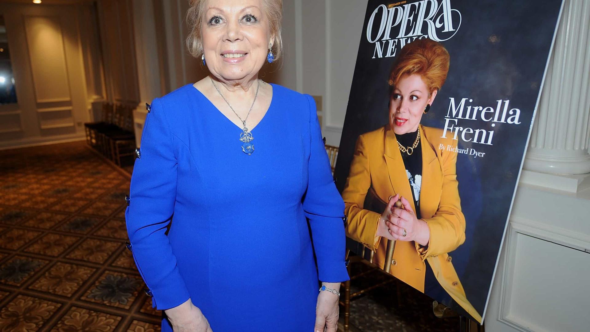 Morreu a soprano italiana Mirella Freni. Tinha 84 anos