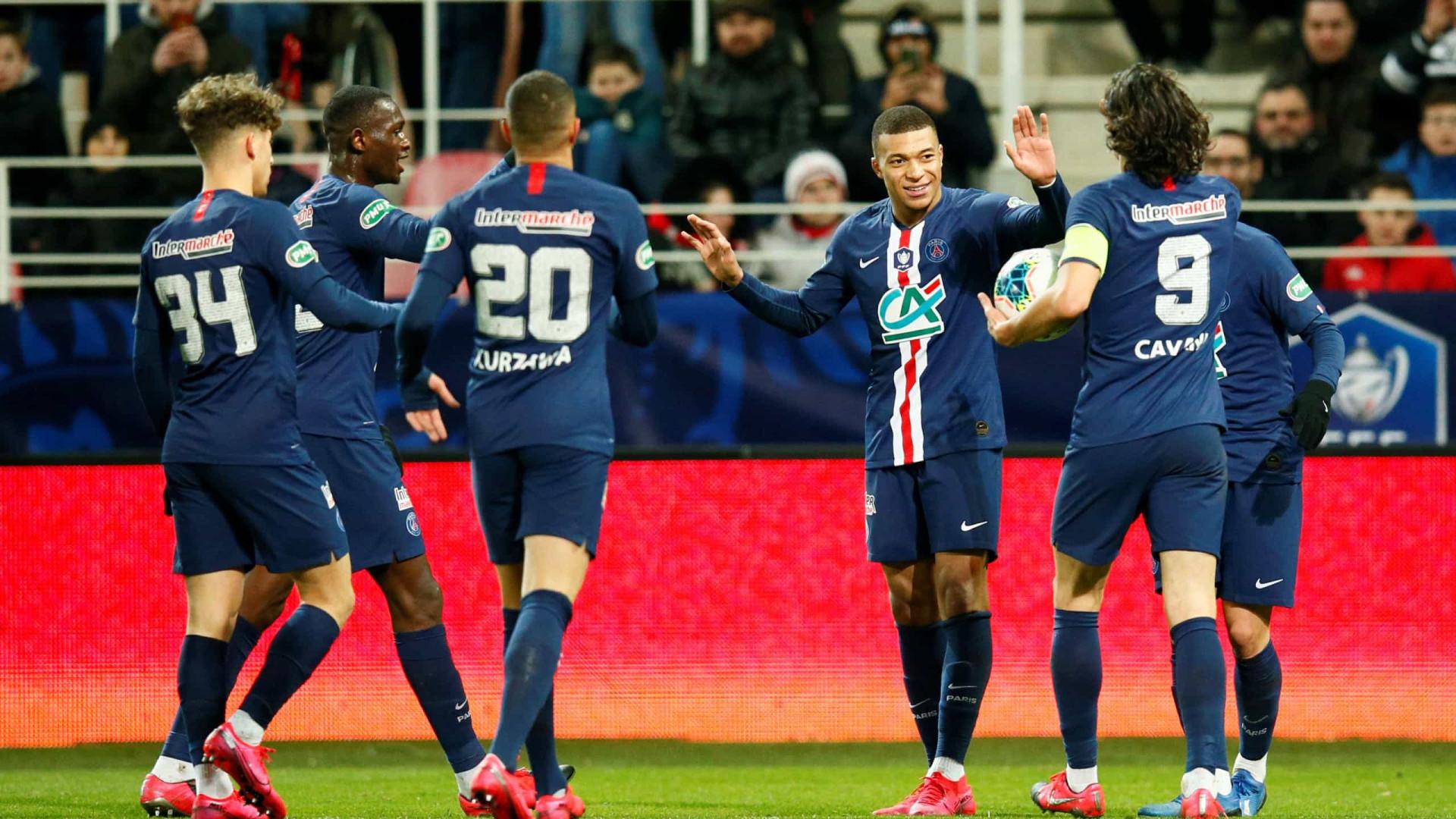Sem Neymar, PSG atropela o Dijon e vai à semifinal da Copa da França