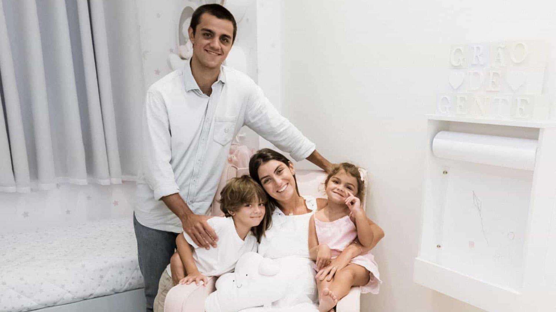 Nasce terceiro filho de Felipe Simas e Mariana Uhlmann