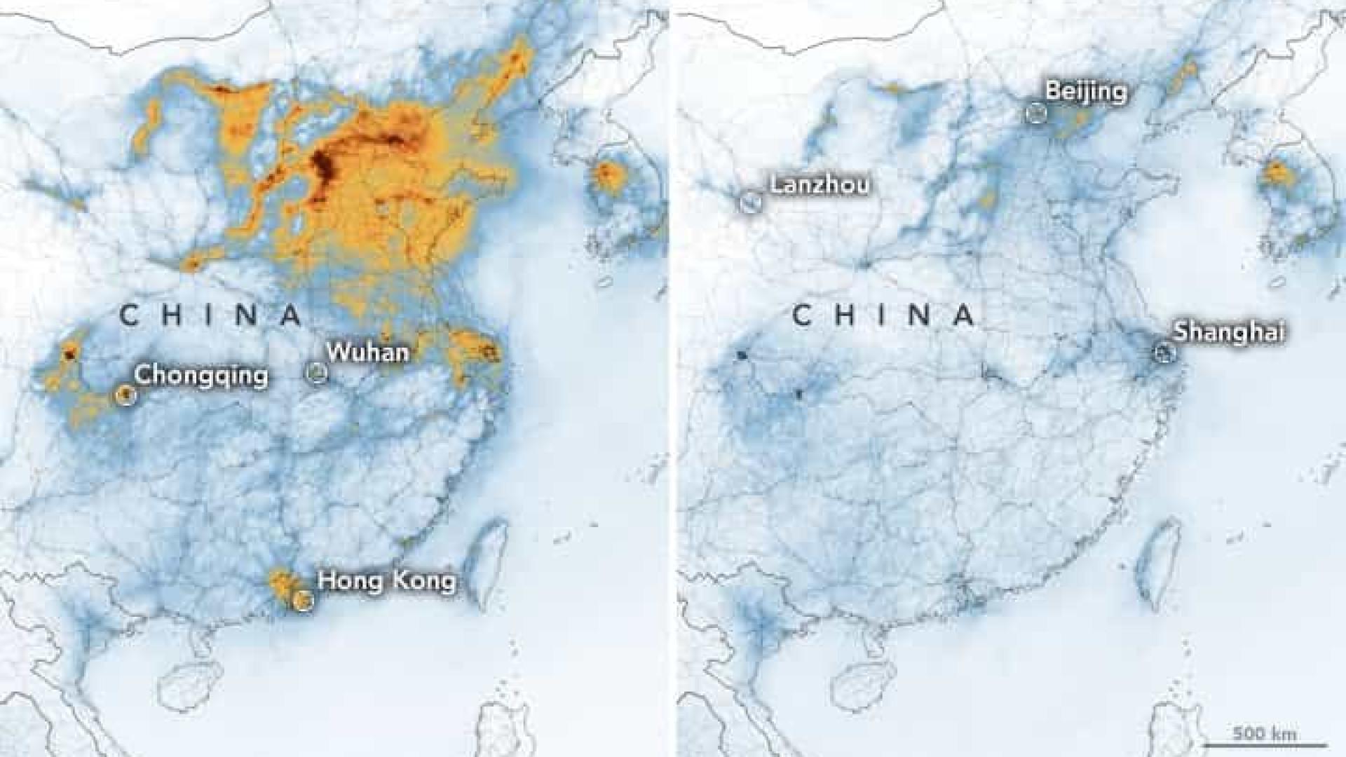 Coronavírus: NASA revela diminuição dos níveis de poluição na China