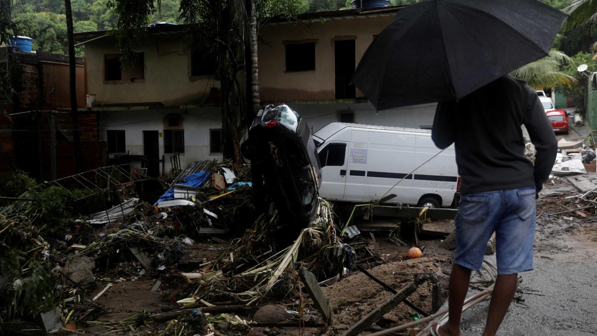 Rio: famílias afetadas por chuvas na Baixada recebem ajuda humanitária