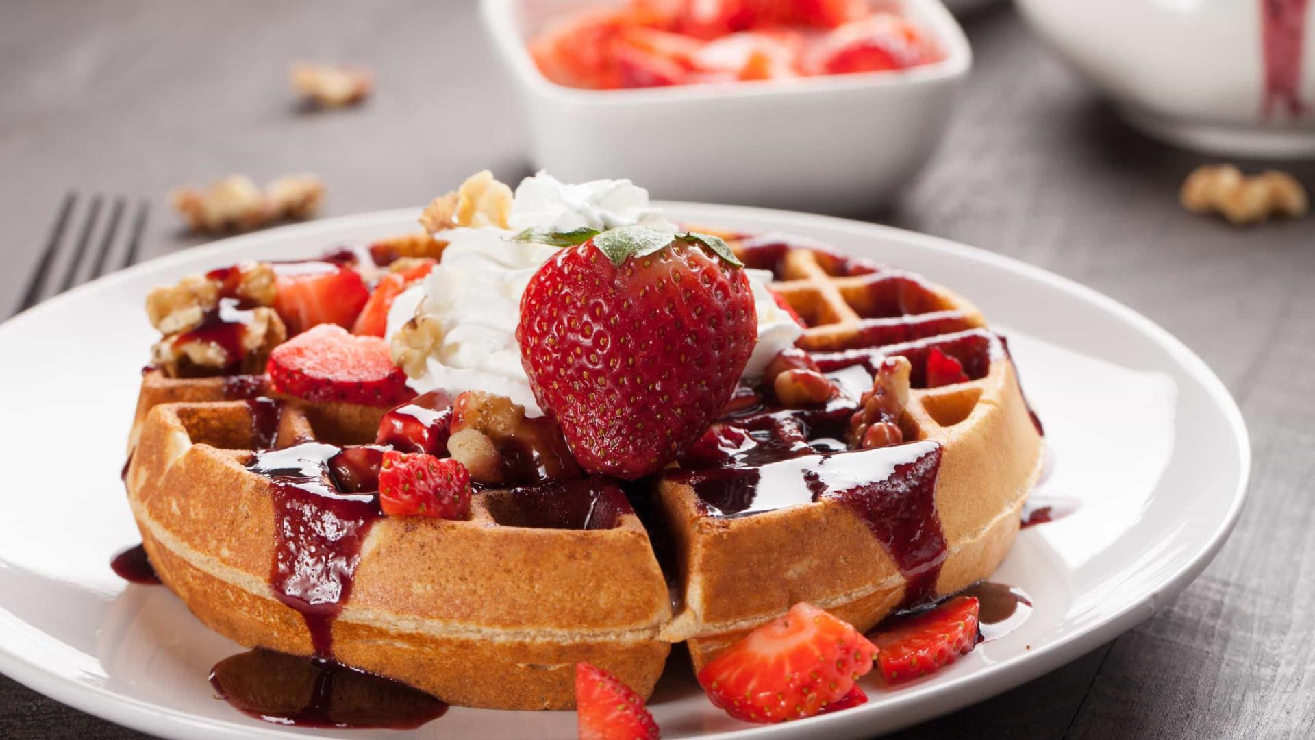 Adoce os seus dias com esta receita deliciosa de waffle