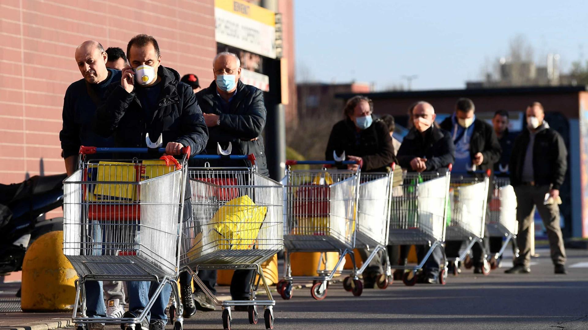 Itália: 2.795 novos casos de infecção. Em 24 horas morreram 175 pessoas