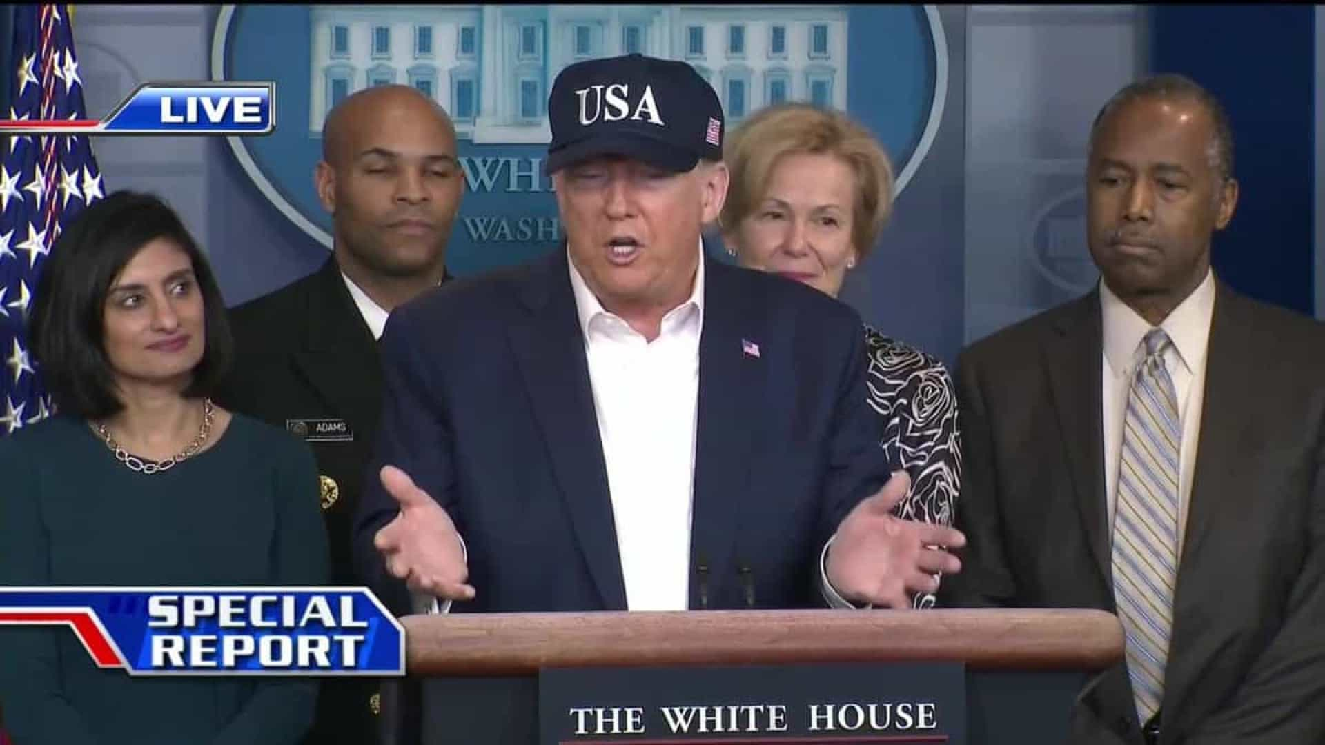 Trump confirma que já foi testado para a Covid-19 e aguarda resultado