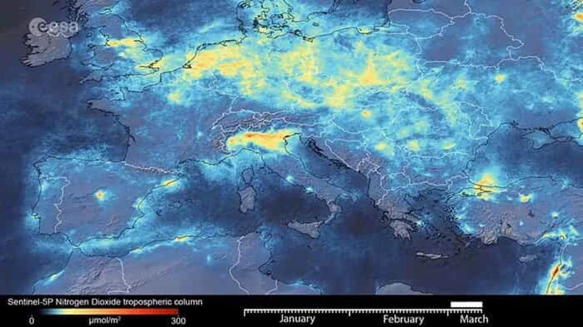 Covid-19. Imagens de satélite mostram diminuição da poluição em Itália