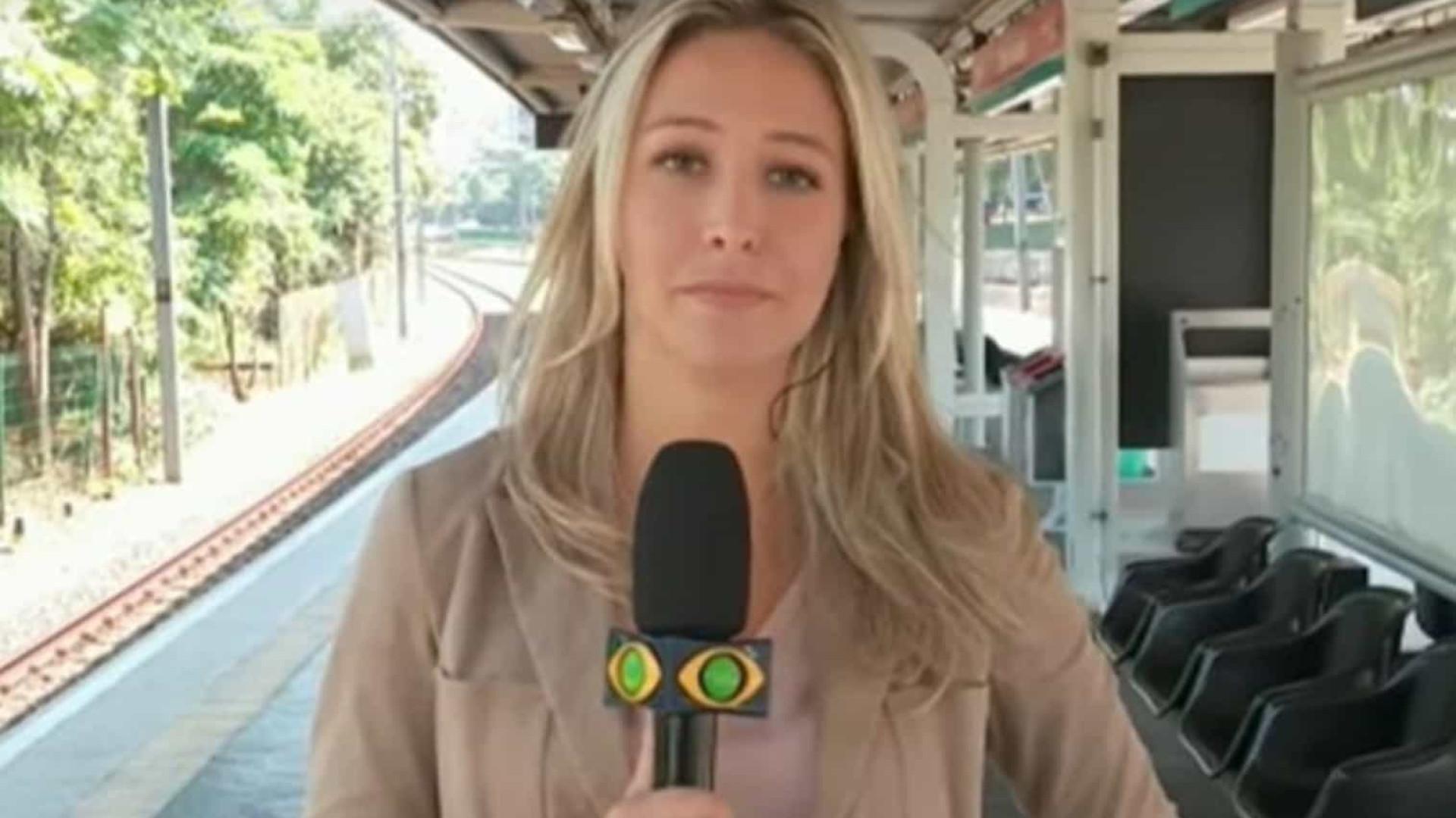 Repórter da Band é furtada durante reportagem ao vivo na TV