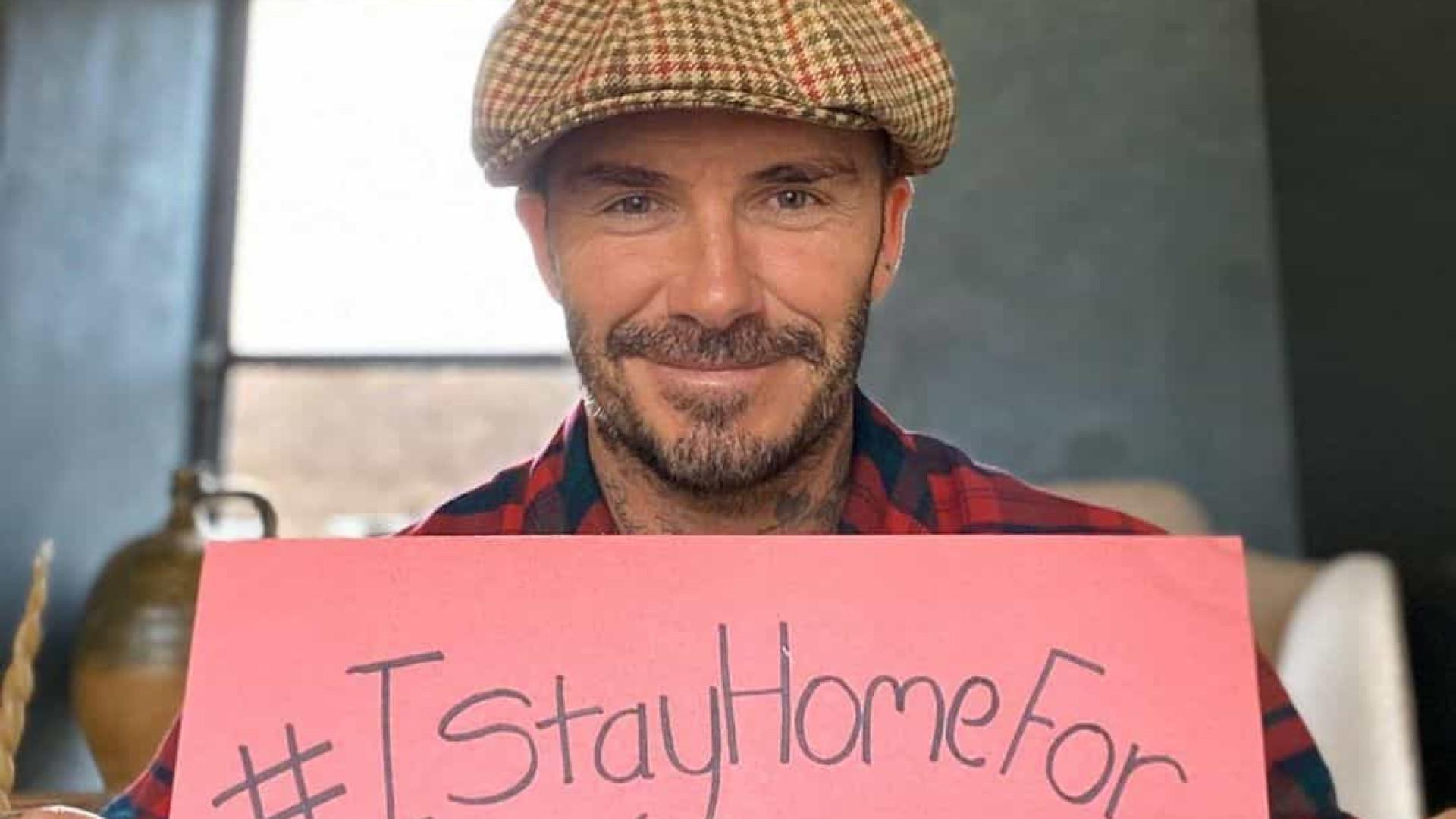 David Beckham mostra como acalma a filha durante a quarentena